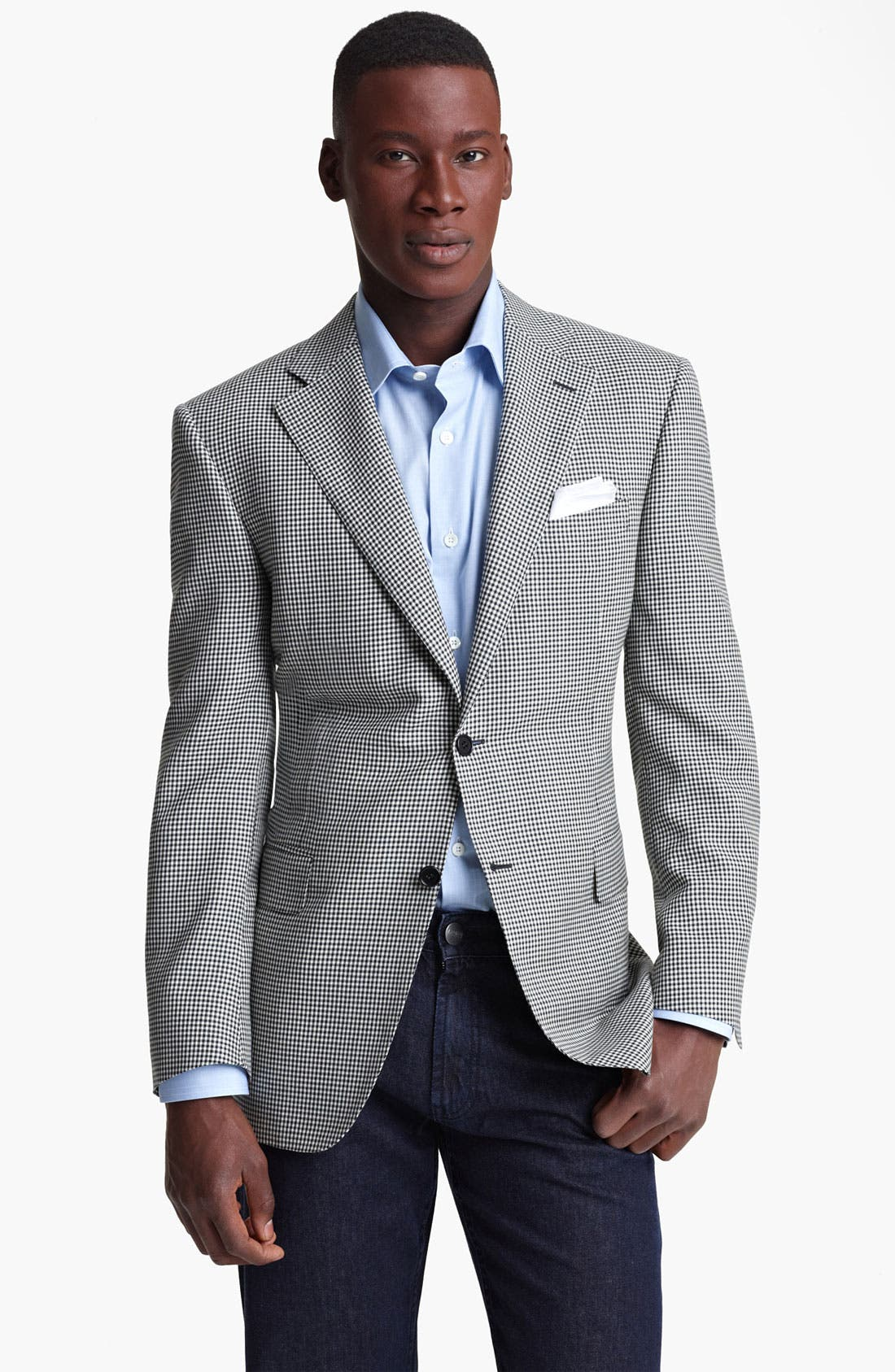 Alternate Image 1 Selected - Canali Check Sportcoat