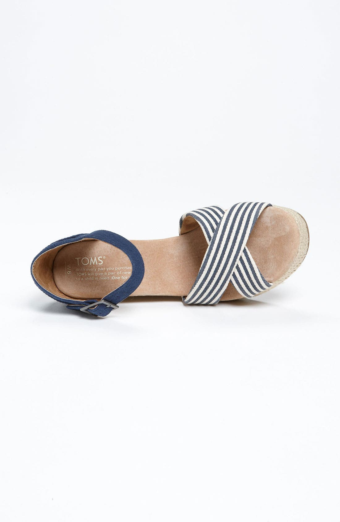 Alternate Image 3  - TOMS 'University Stripe' Sandal