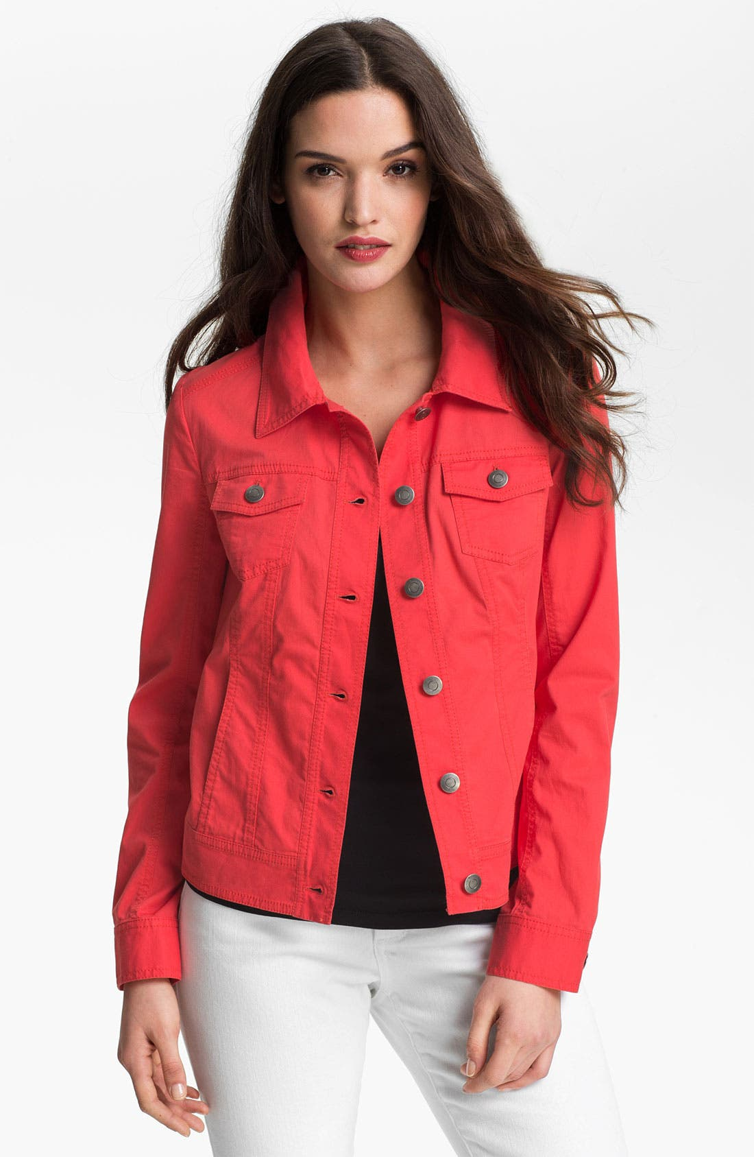 Alternate Image 1 Selected - Amber Sun Modern Denim Jacket