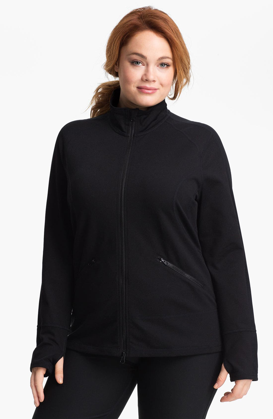 Main Image - Zella 'Streamline' Jacket (Plus Size)