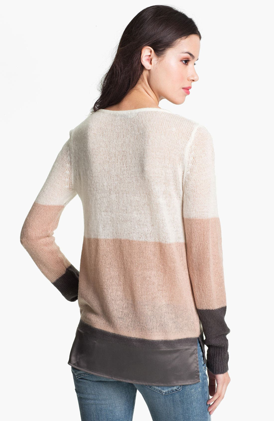 Alternate Image 2  - Hinge® Satin Needle Punch Sweater