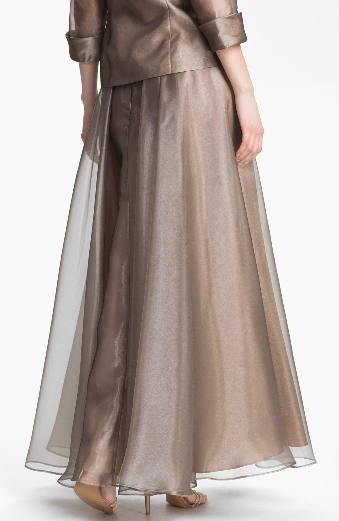 Alternate Image 2  - Alex Evenings Metallic Organza Flare Skirt