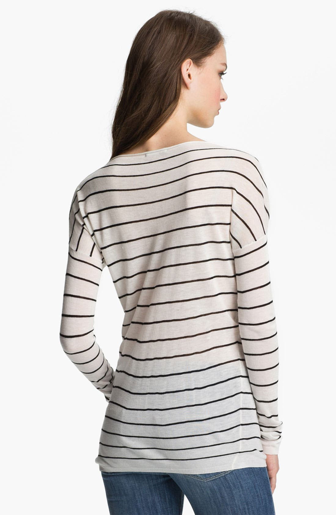 Alternate Image 2  - Vince Stripe Boatneck Sweater