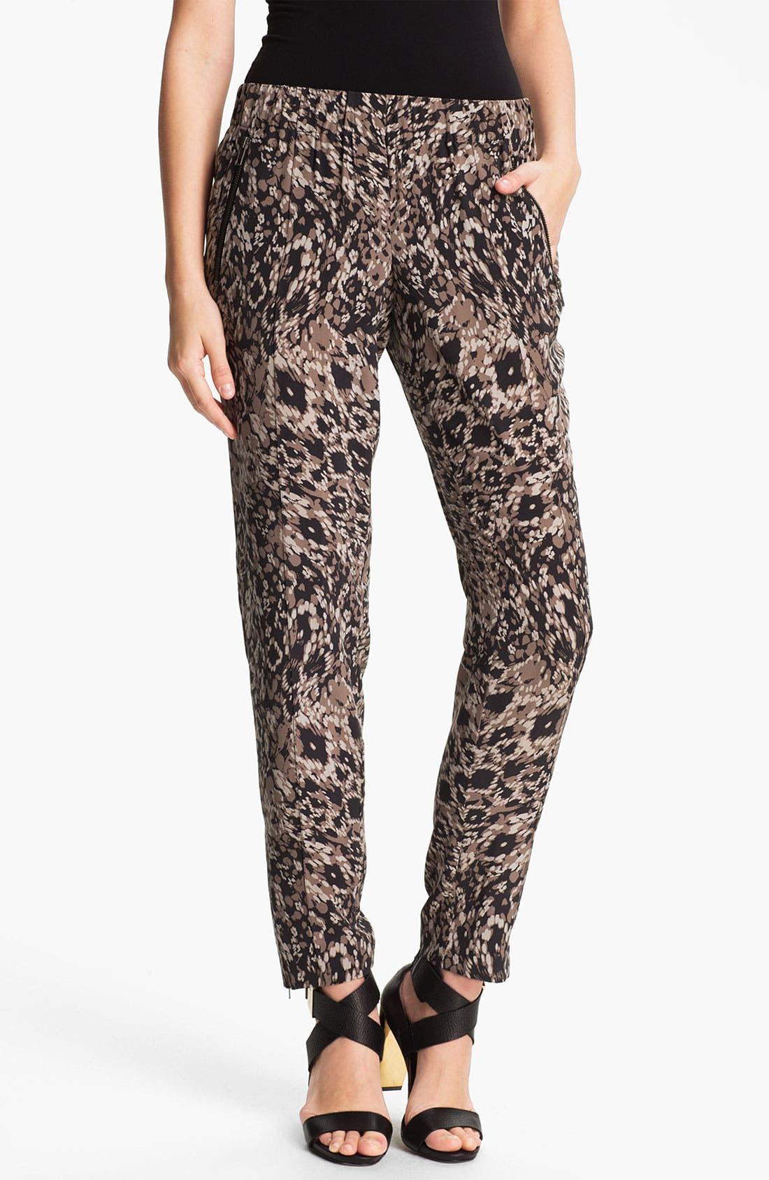 Alternate Image 1 Selected - Rachel Zoe 'Mona' Pintucked Silk Pants