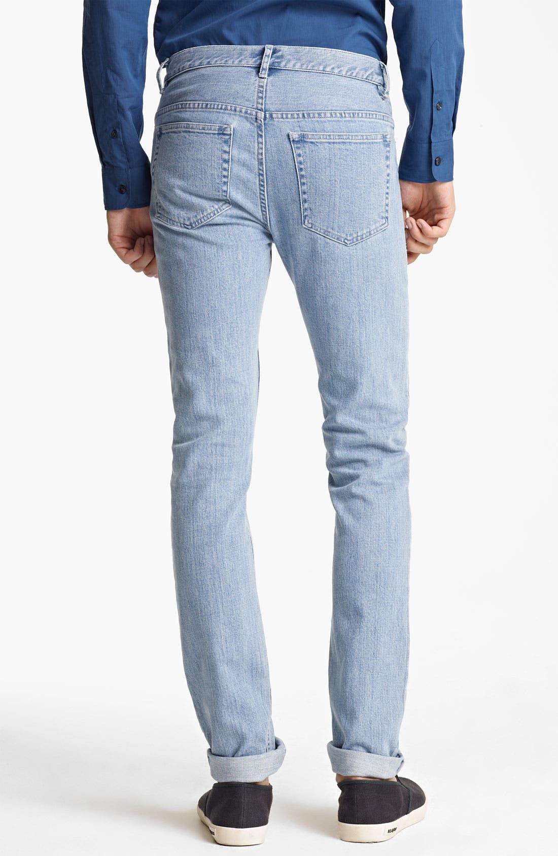 Alternate Image 2  - A.P.C. 'Petit New Standard' Slim Straight Leg Jeans (Light Blue)