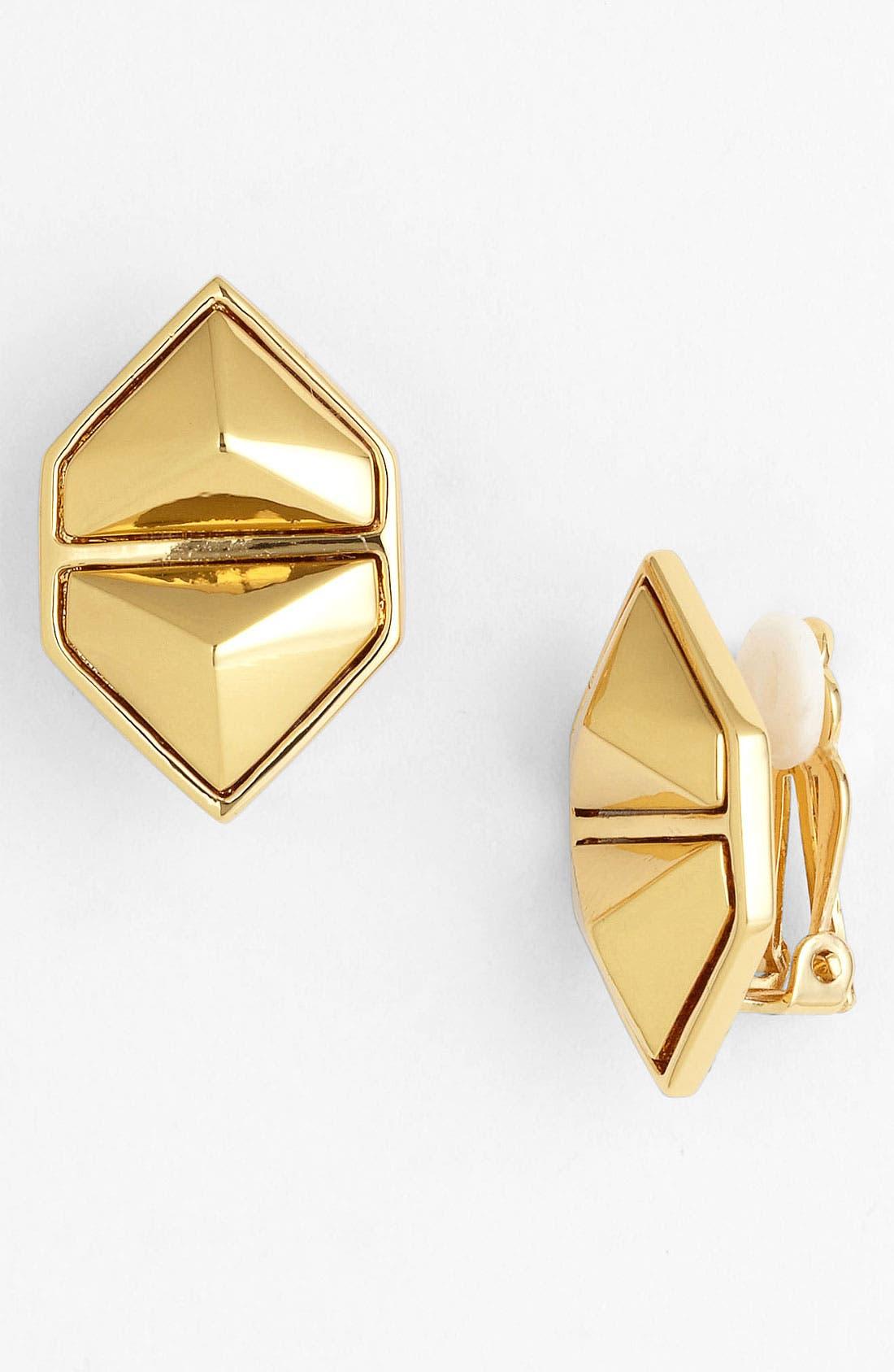 Alternate Image 1 Selected - Vince Camuto 'Clean Slate' Clip Stud Earrings