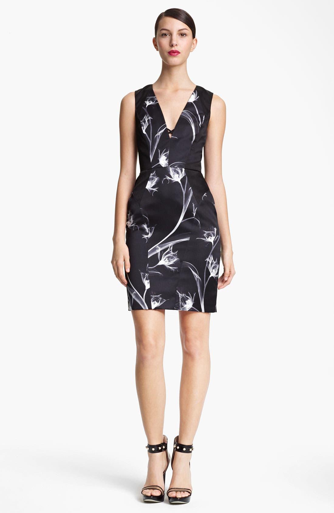 Alternate Image 1 Selected - Jason Wu Floral Print Silk Sheath Dress