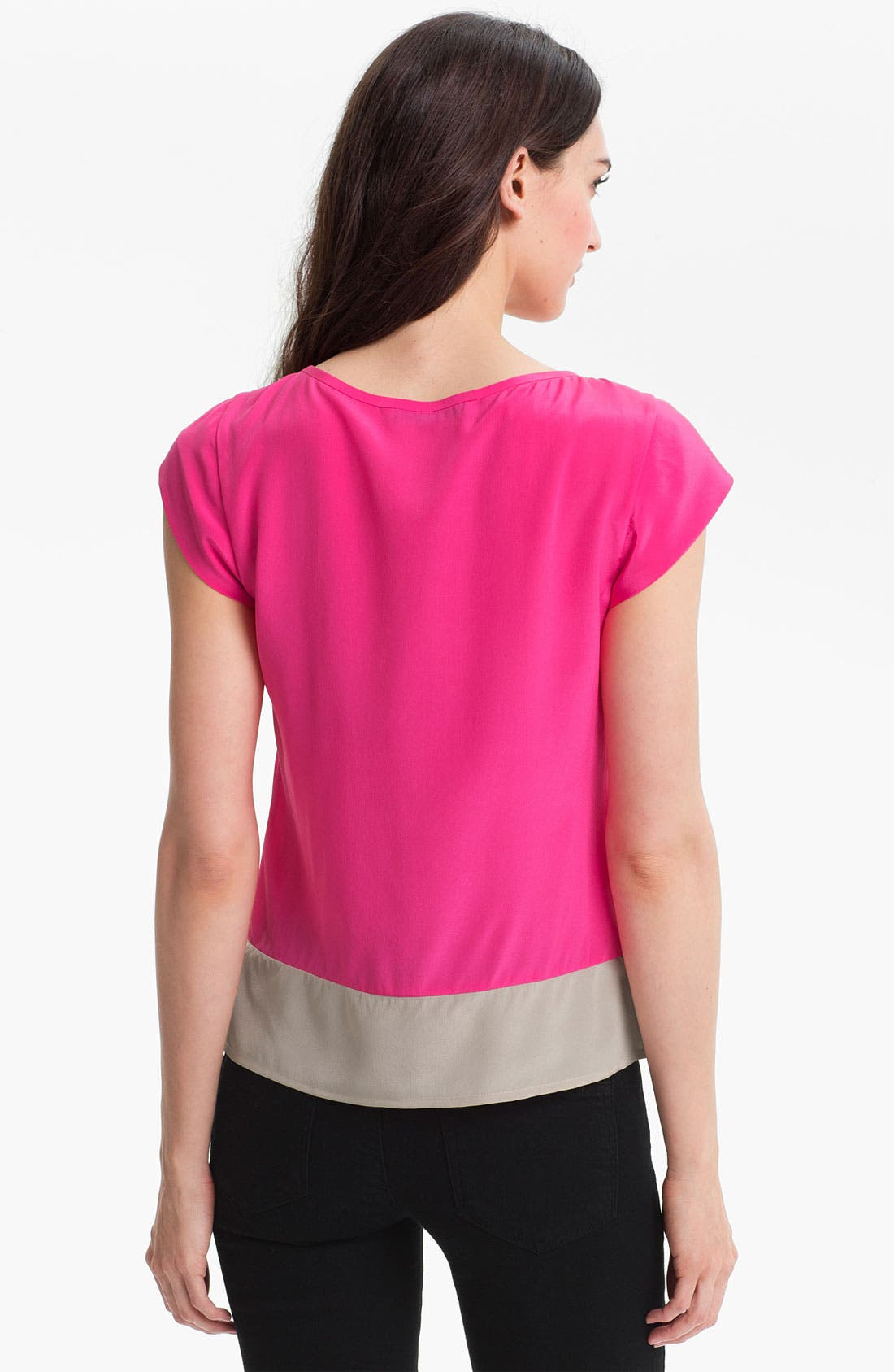 Alternate Image 2  - Trina Turk 'Hawk' Colorblocked Silk Top