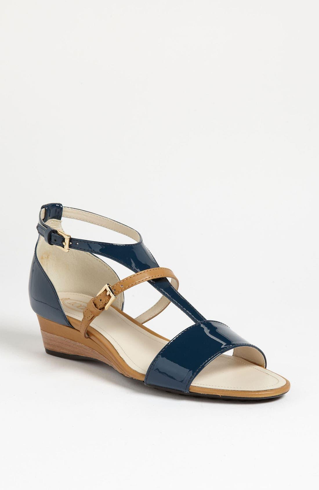Alternate Image 1 Selected - Tod's T-Strap Sandal