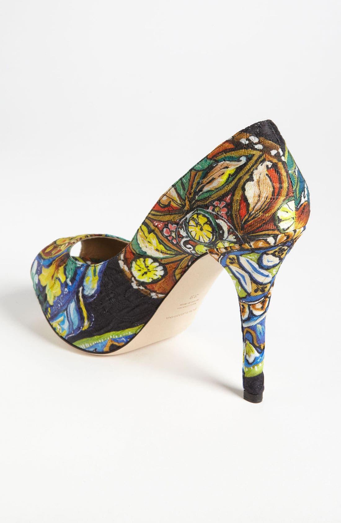 Alternate Image 2  - Dolce&Gabbana Print Pump