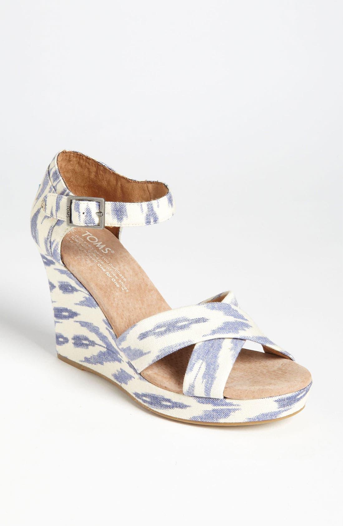 Alternate Image 1 Selected - TOMS 'Ikat' Wedge Sandal