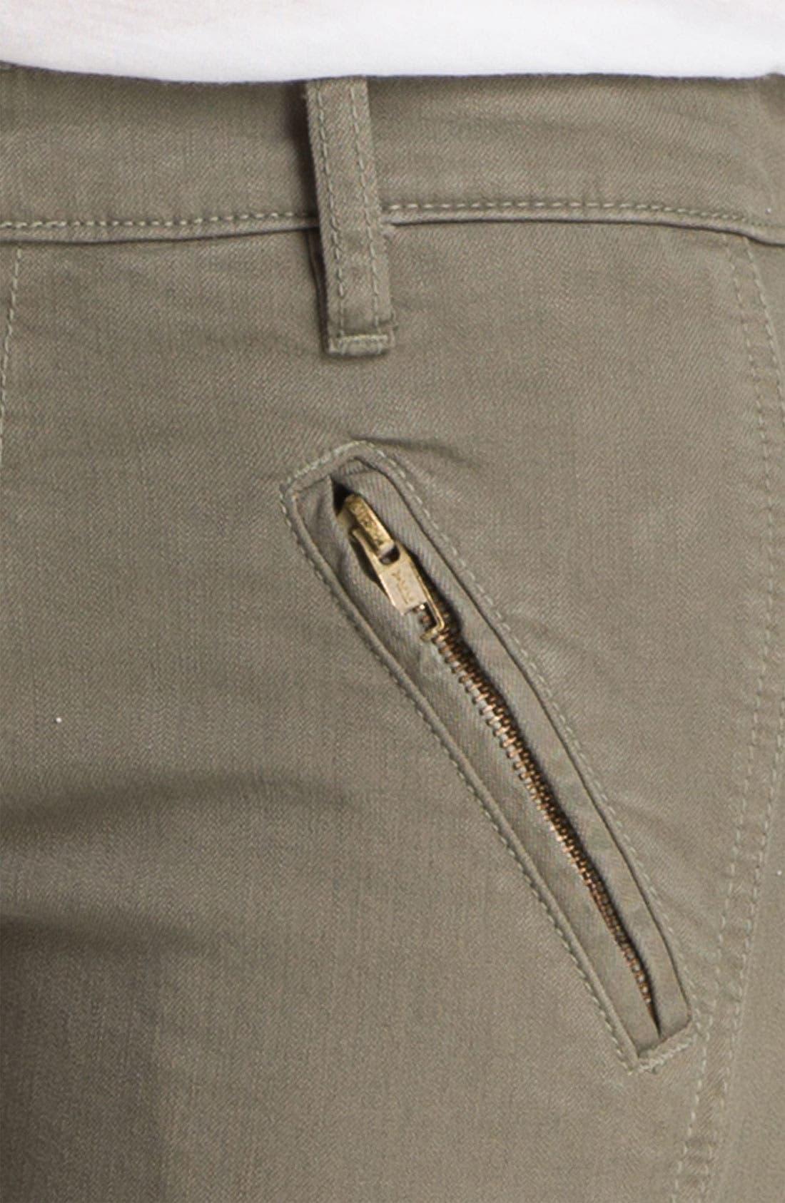 Alternate Image 3  - Current/Elliott 'The Moto Stiletto' Twill Crop Pants