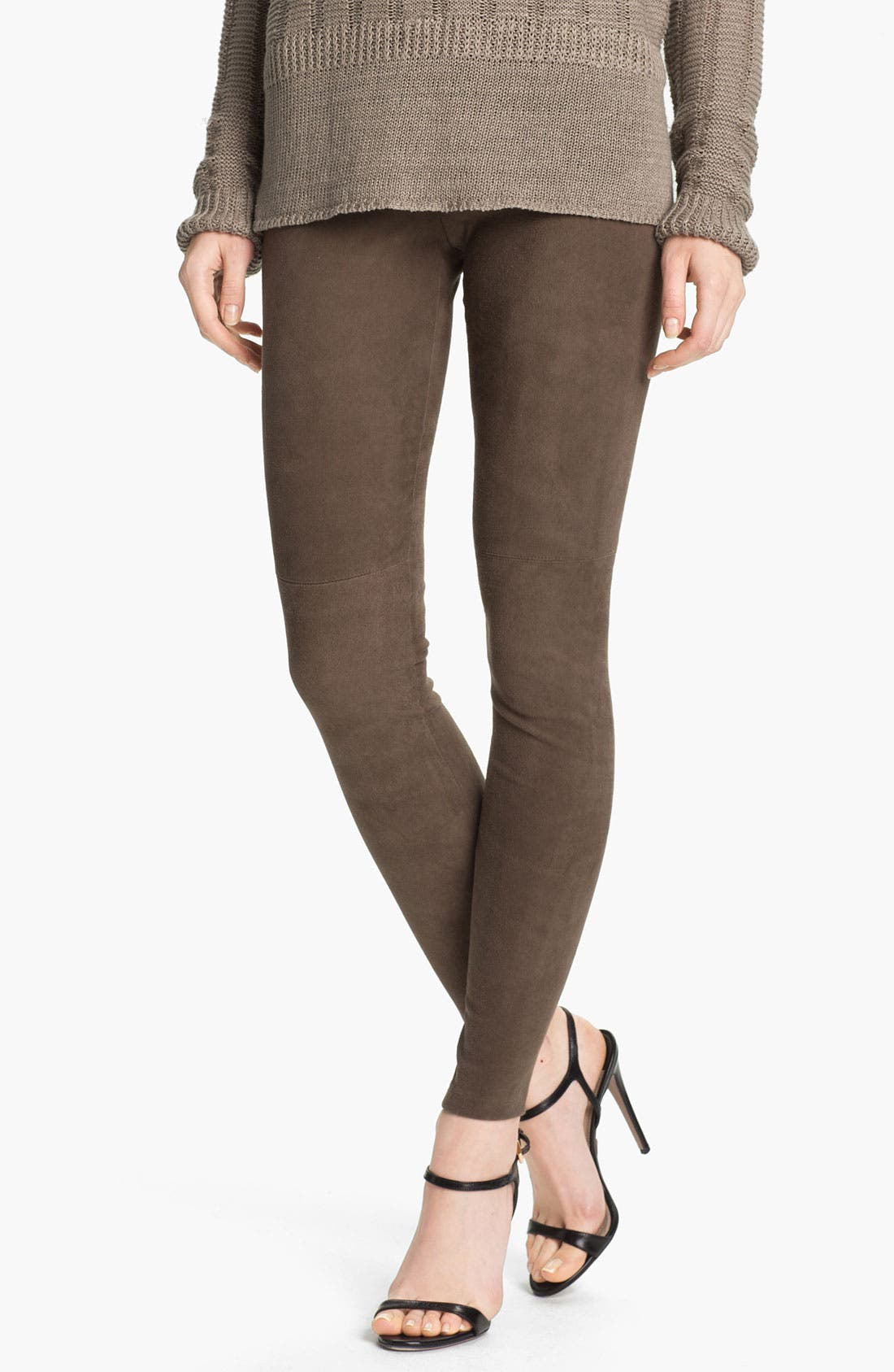 Alternate Image 1 Selected - Vince Stretch Suede Leggings