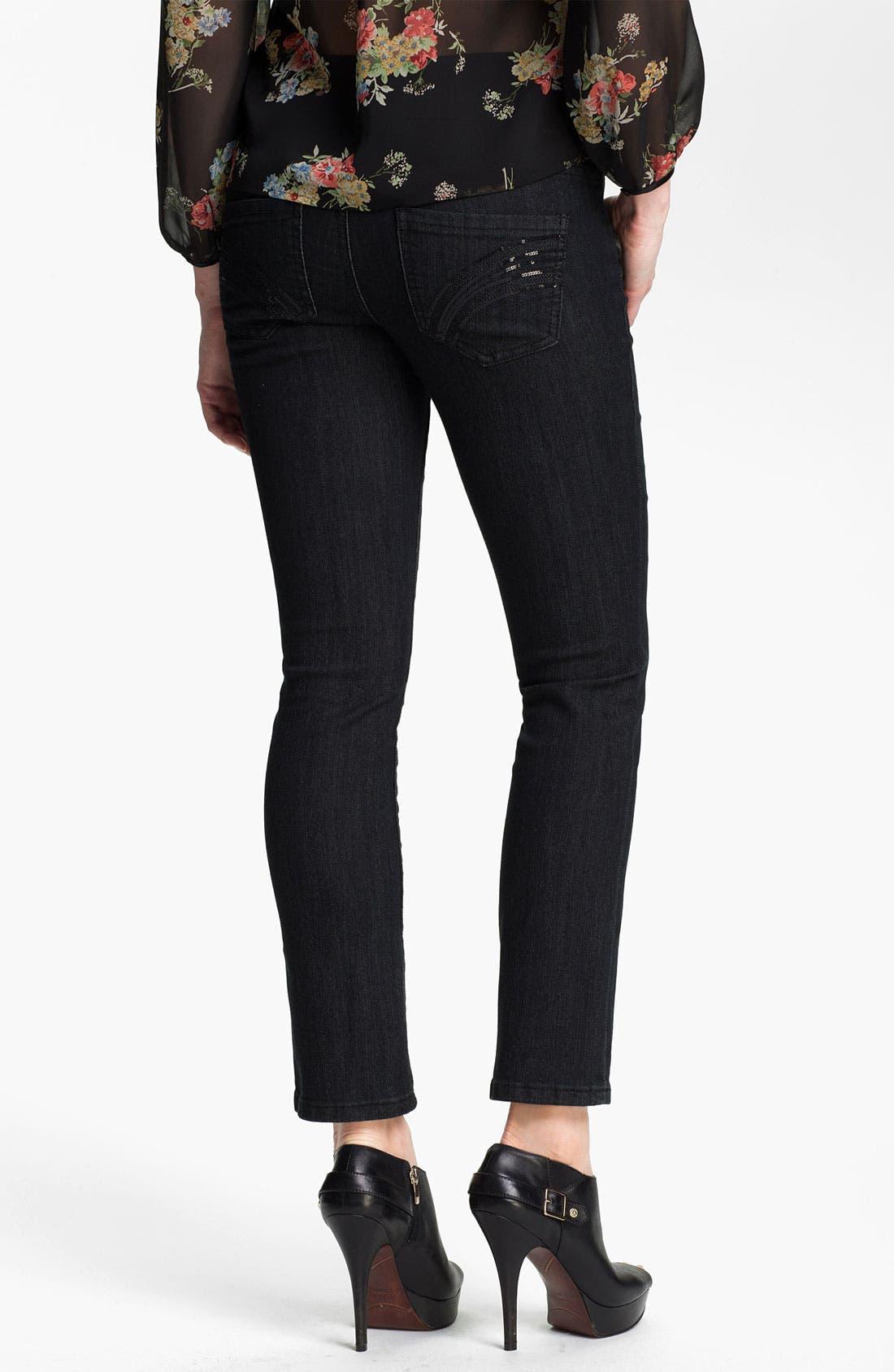 Alternate Image 2  - Jag Jeans 'Tatum' Pull On Straight Leg Jeans (Petite)