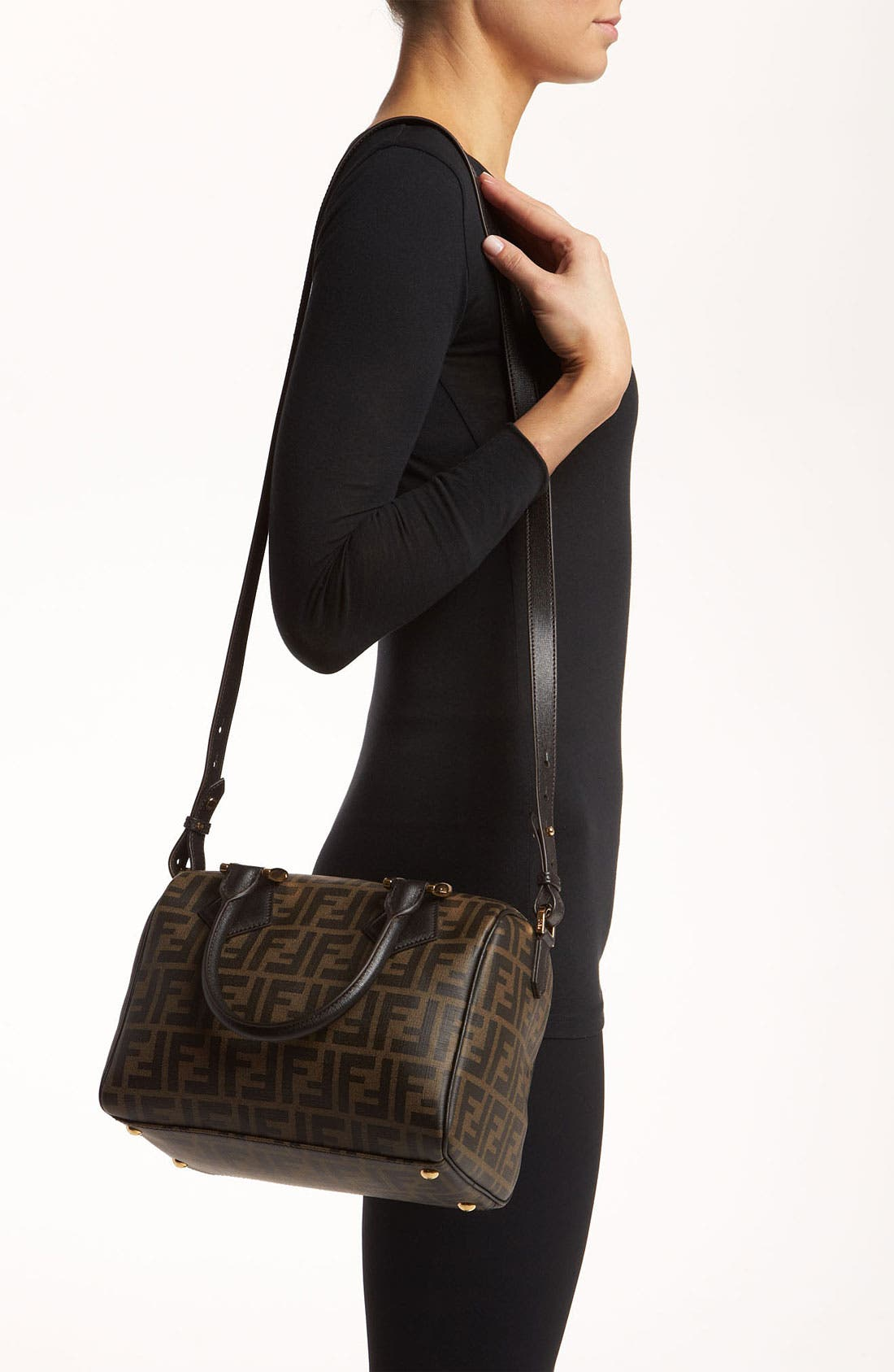 Alternate Image 2  - Fendi 'Zucca - Small' Boston Bag