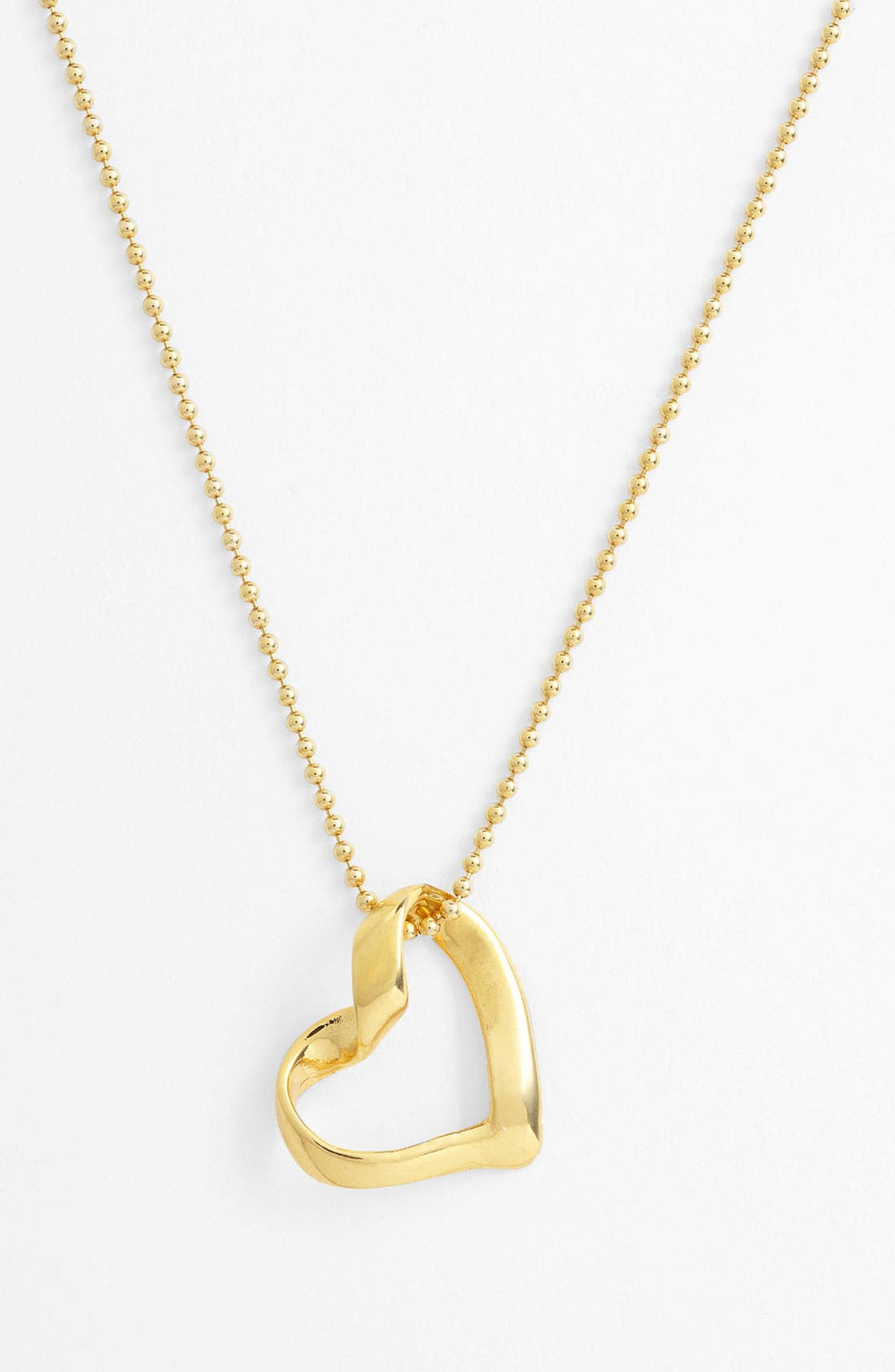 Alternate Image 1 Selected - Argento Vivo 'Love' Heart Pendant Necklace (Nordstrom Exclusive)
