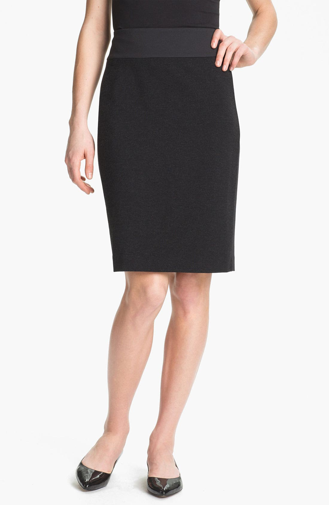 Main Image - Eileen Fisher Mix Media Pencil Skirt