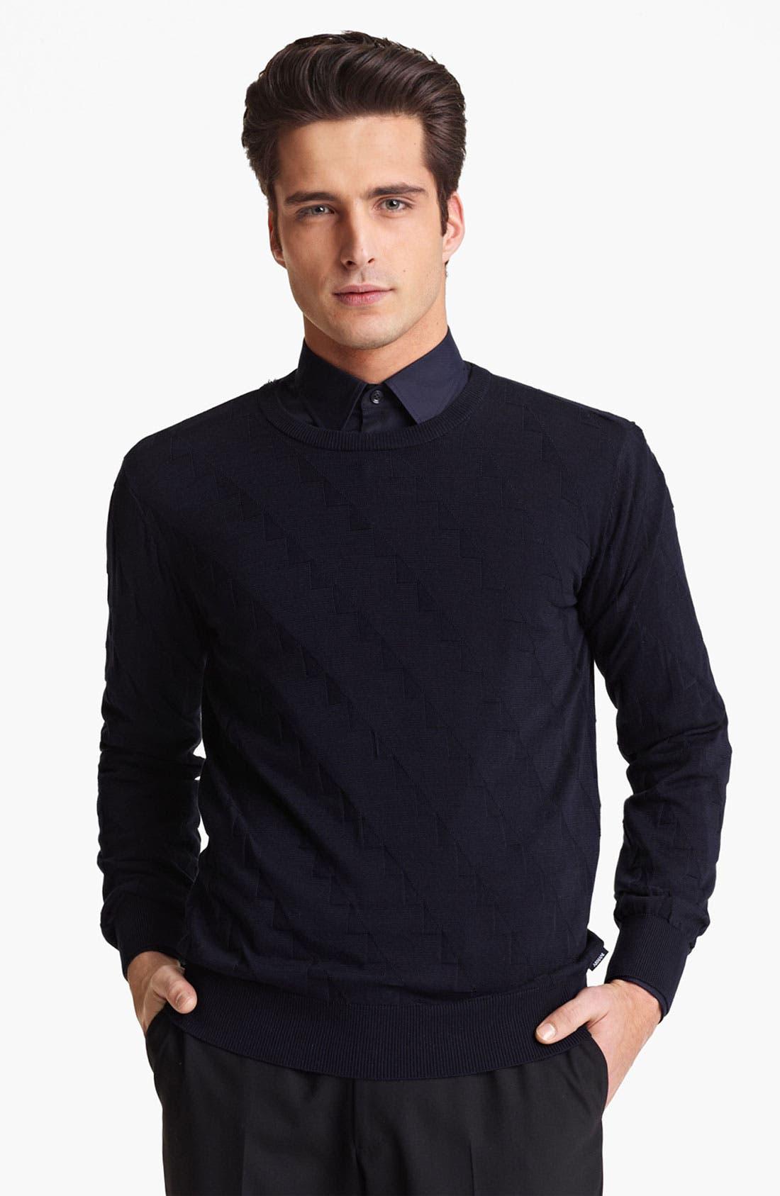 Alternate Image 1 Selected - Armani Collezioni Geometric Pattern Sweater
