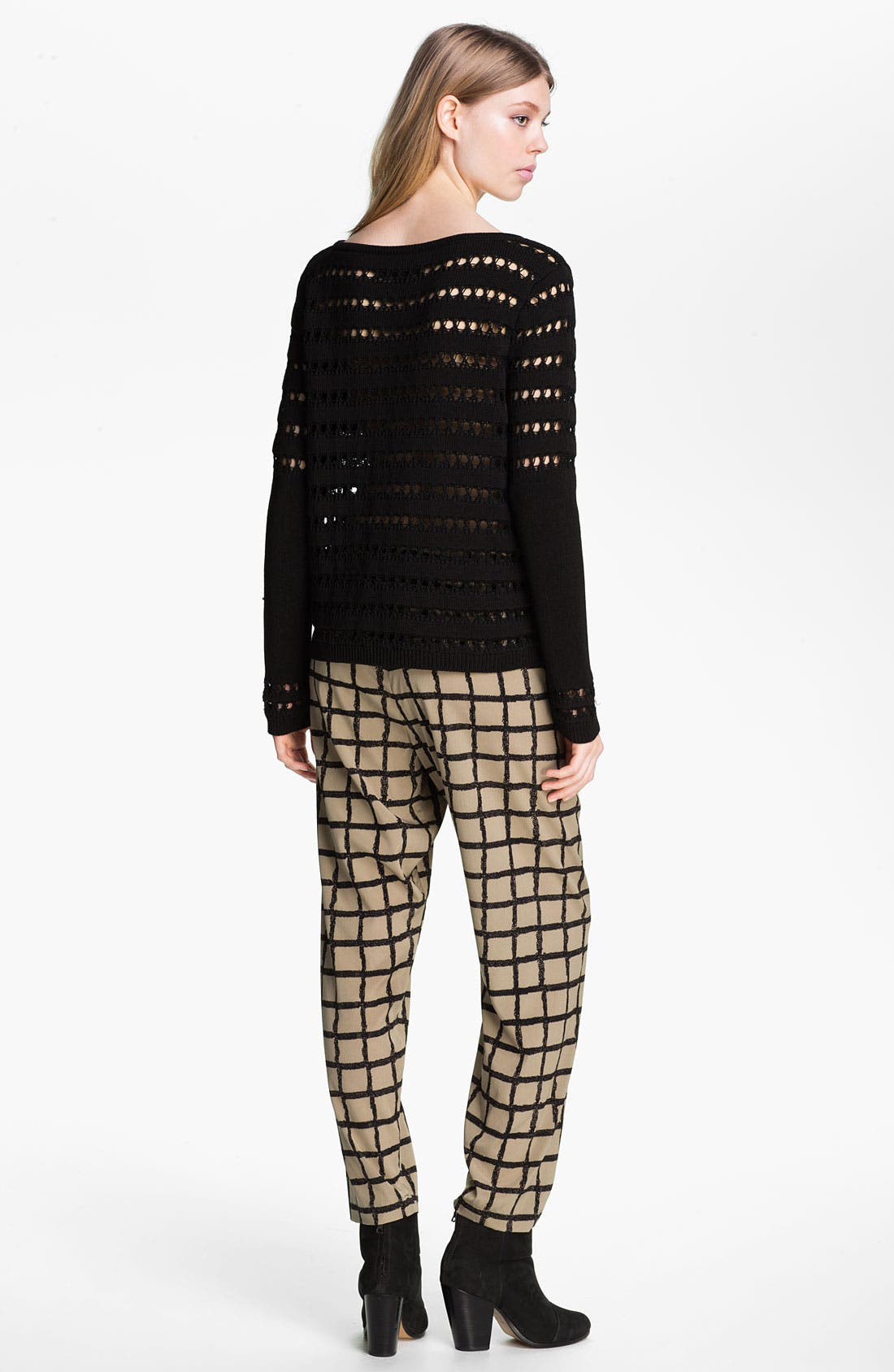 Alternate Image 4  - rag & bone Windowpane Silk Pants