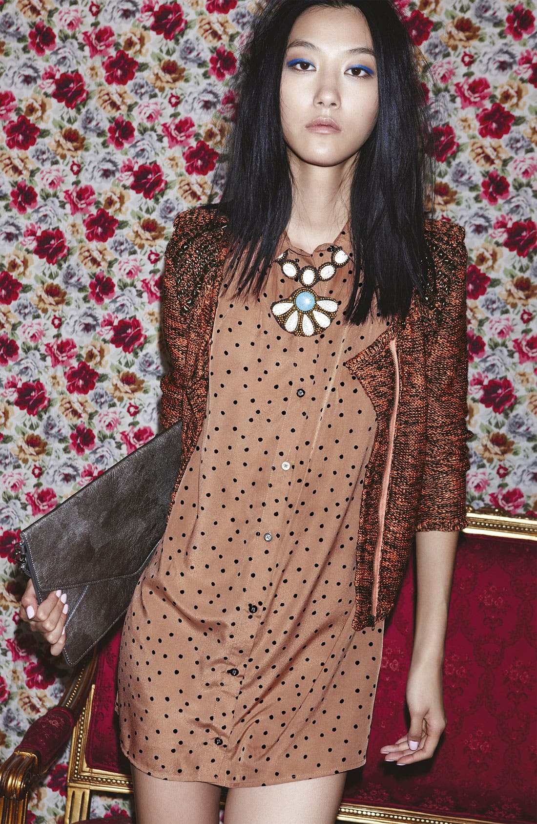 Main Image - ASTR Cardigan & Mink Pink Dress