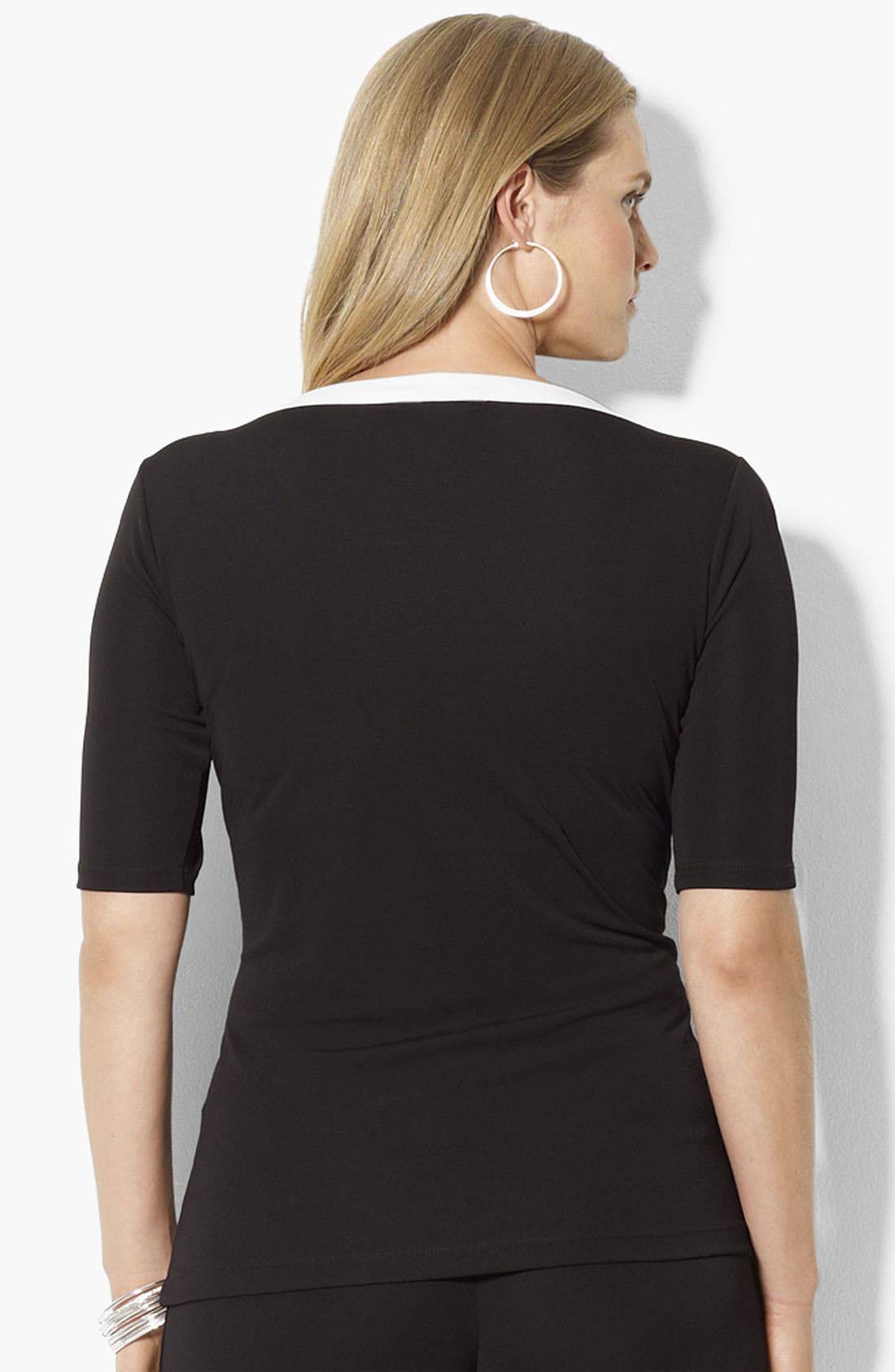 Alternate Image 2  - Lauren Ralph Lauren Matte Jersey Top (Plus)