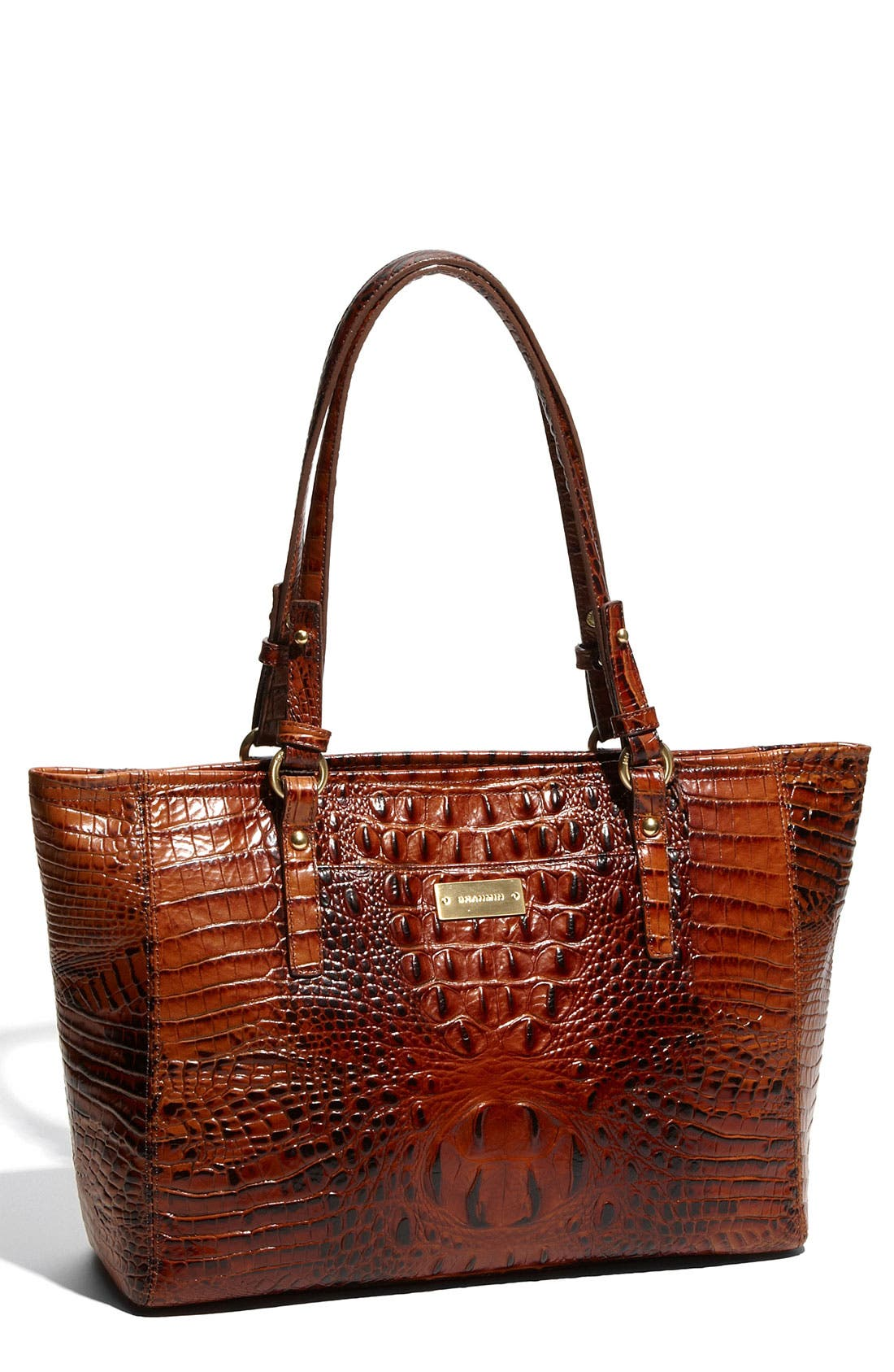 Main Image - Brahmin 'Medium Melbourne Arno' Croc Embossed Tote