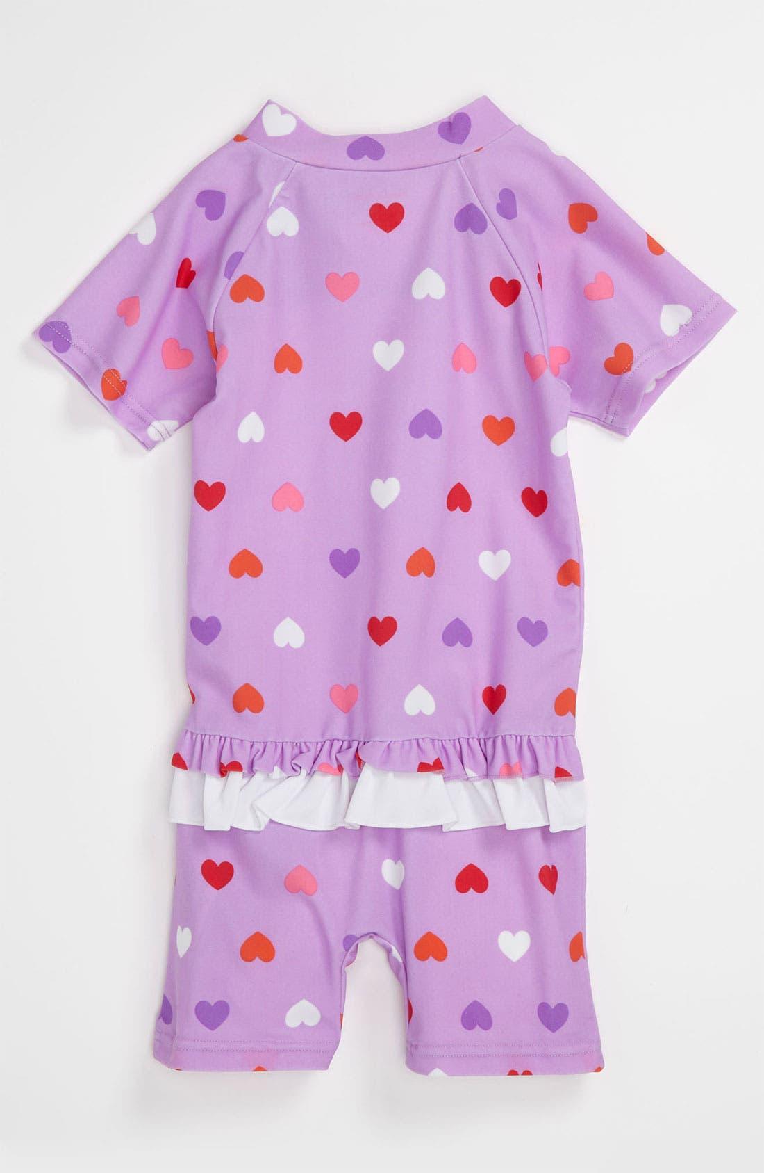 Alternate Image 2  - Pumpkin Patch 'Heart' Rashguard Suit (Toddler)