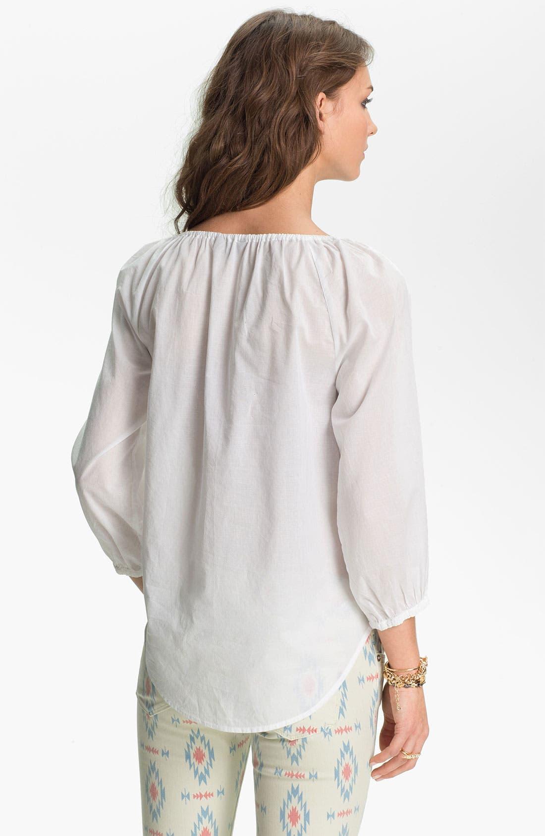Alternate Image 2  - Rubbish® Embroidered Peasant Top (Juniors)