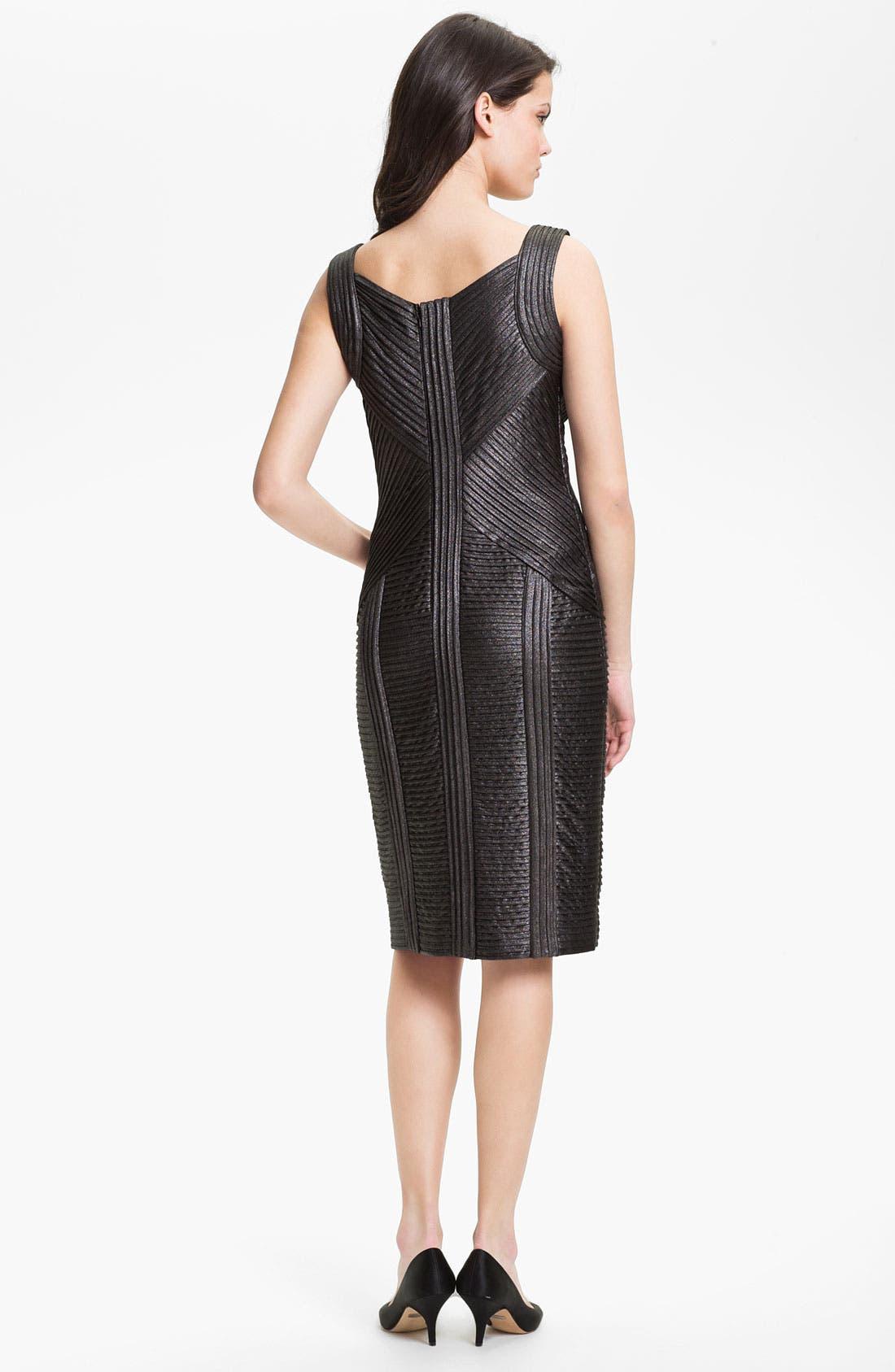 Alternate Image 2  - Tadashi Shoji Metallic Ottoman Sheath Dress