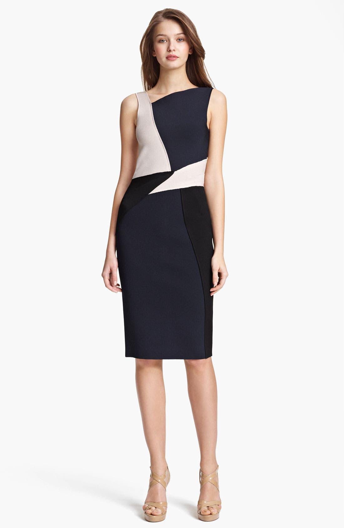 Main Image - Oscar de la Renta Colorblock Knit Dress