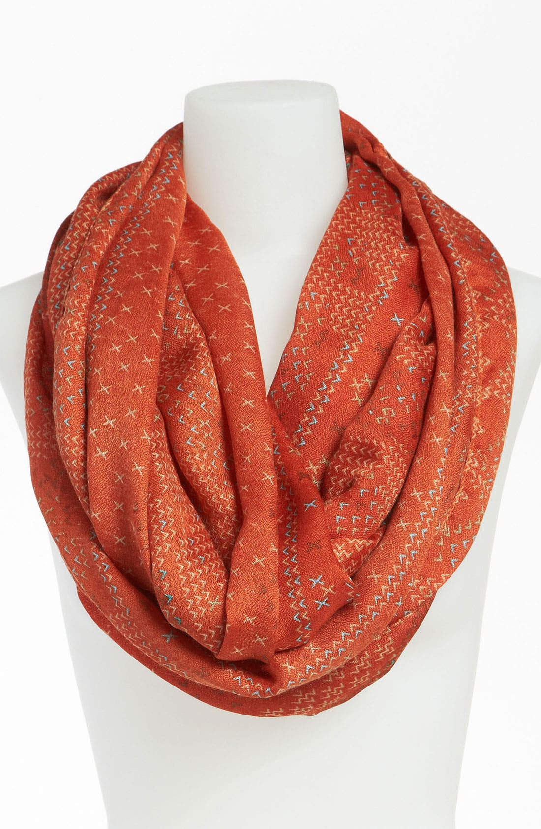 Alternate Image 1 Selected - David & Young Patterned Infinity Scarf