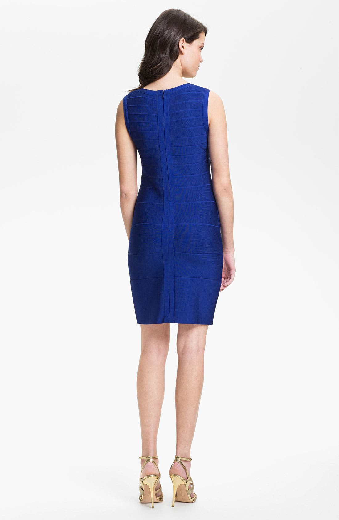 Alternate Image 2  - Calvin Klein Scoop Neck Bandage Dress