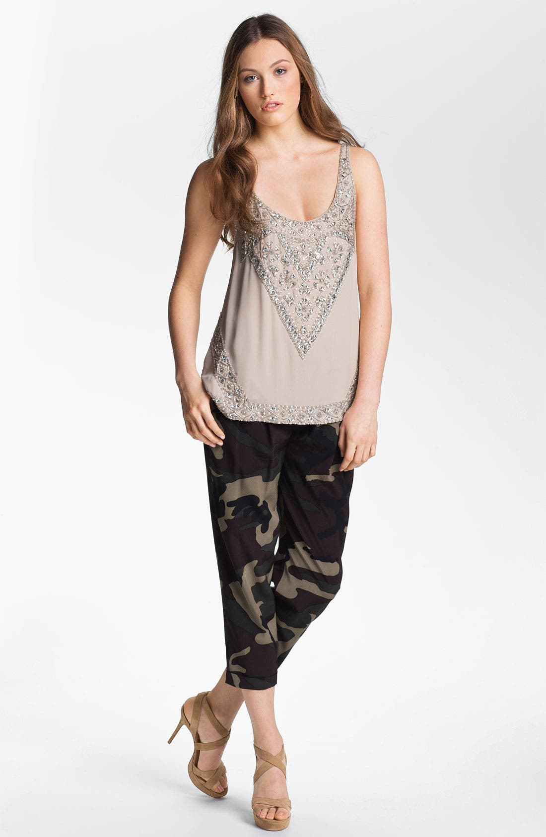 Alternate Image 7  - Haute Hippie Camo Print Drawstring Trousers