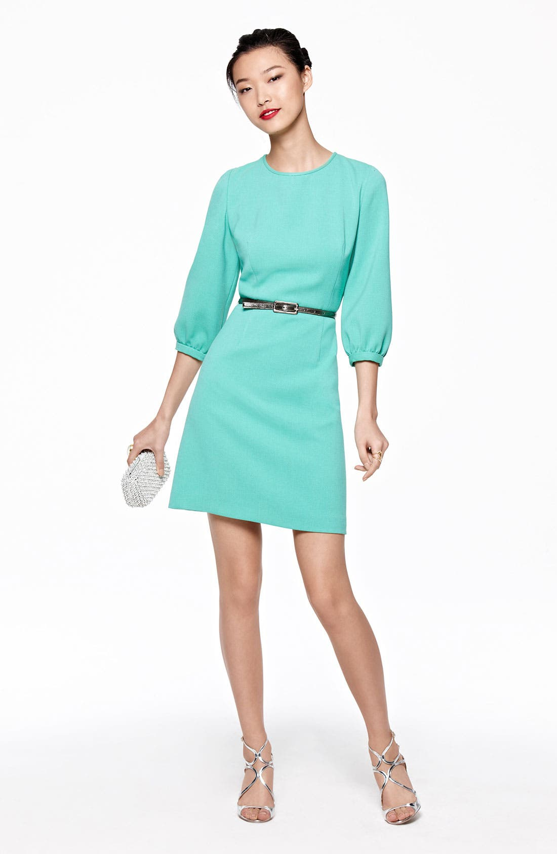 Alternate Image 4  - Eliza J Blouson Sleeve Belted A-Line Dress