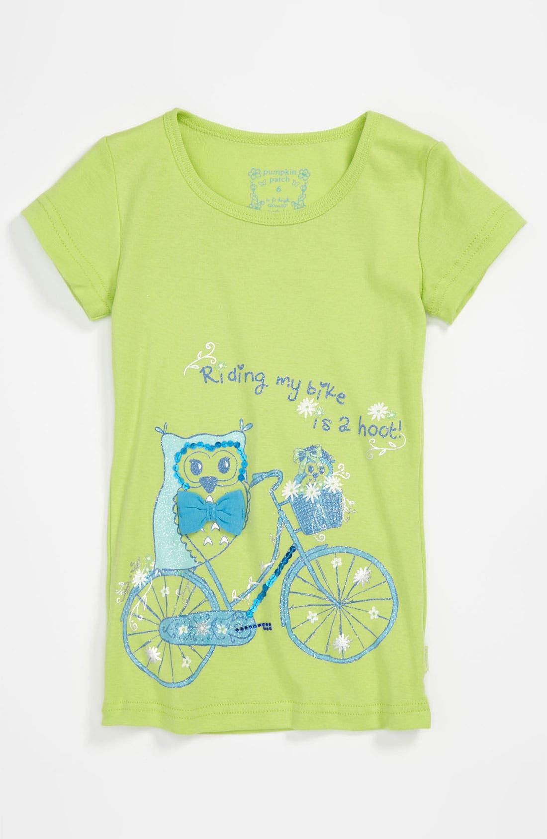 Alternate Image 1 Selected - Pumpkin Patch 'Spotty Owl' Tee (Little Girls & Big Girls)
