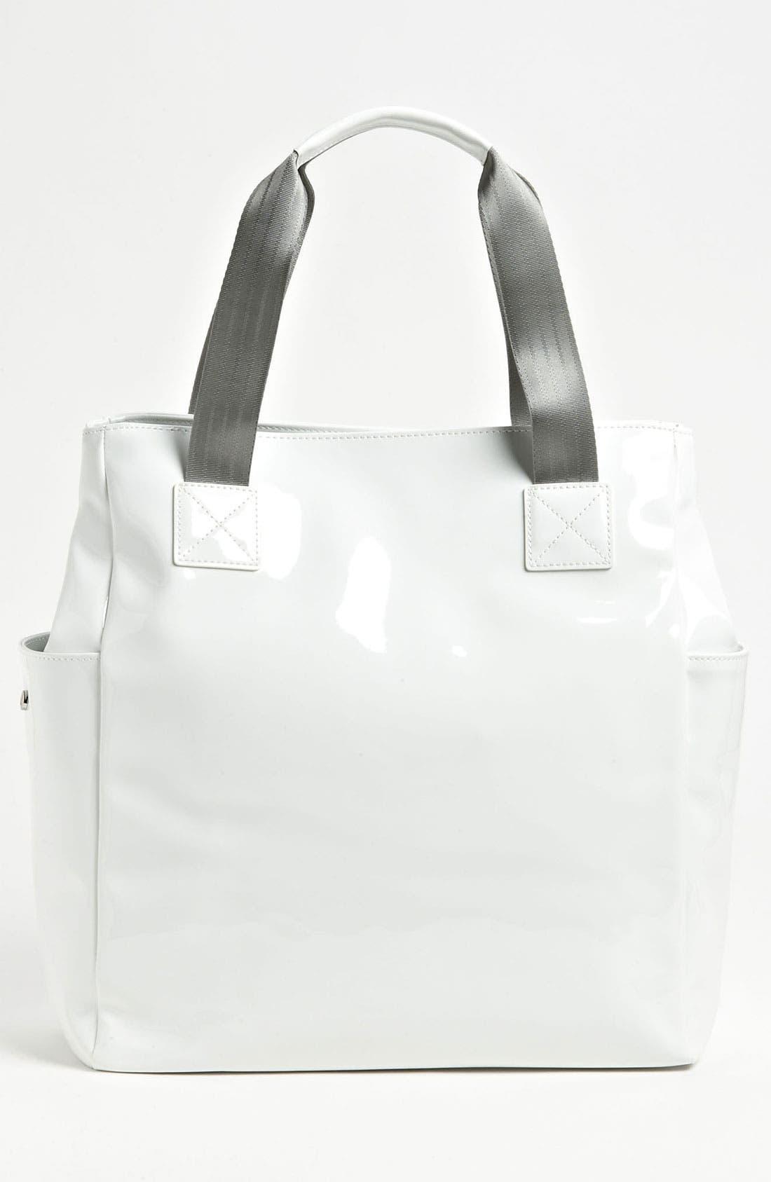 Alternate Image 4  - Armani Junior Patent Diaper Bag