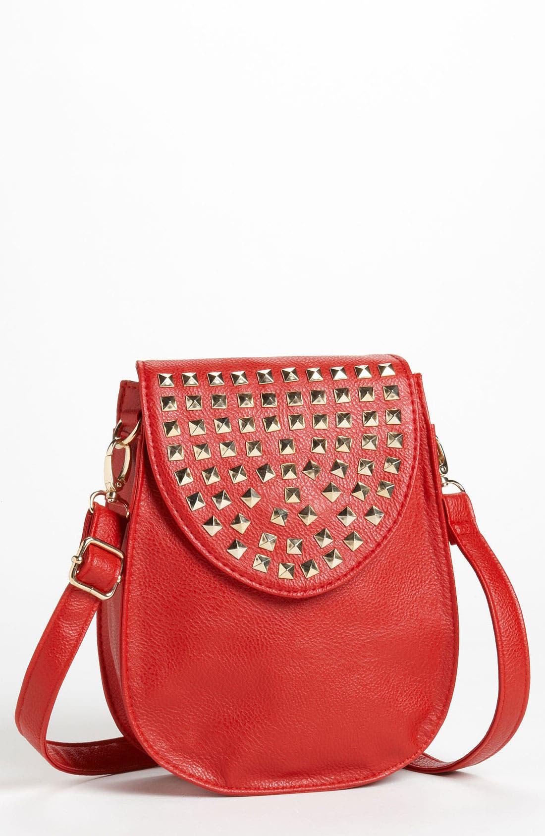 Alternate Image 1 Selected - Natasha Couture Studded Flap Crossbody Bag