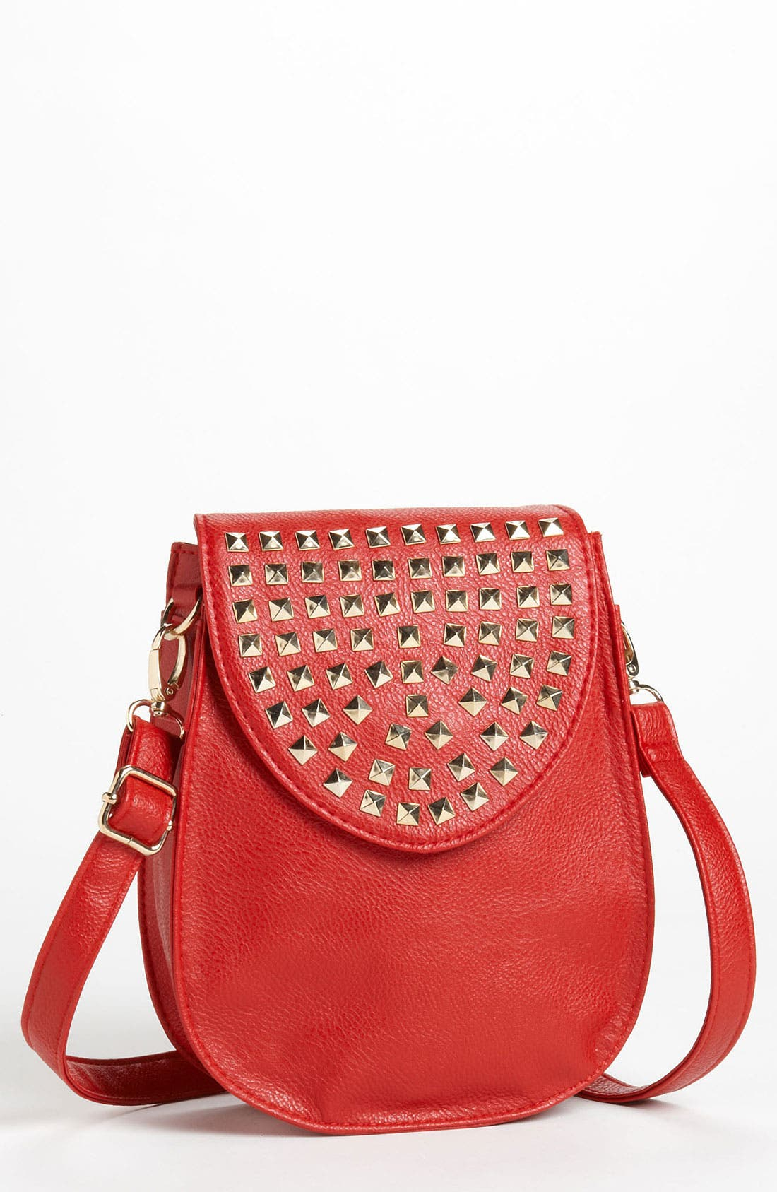 Main Image - Natasha Couture Studded Flap Crossbody Bag