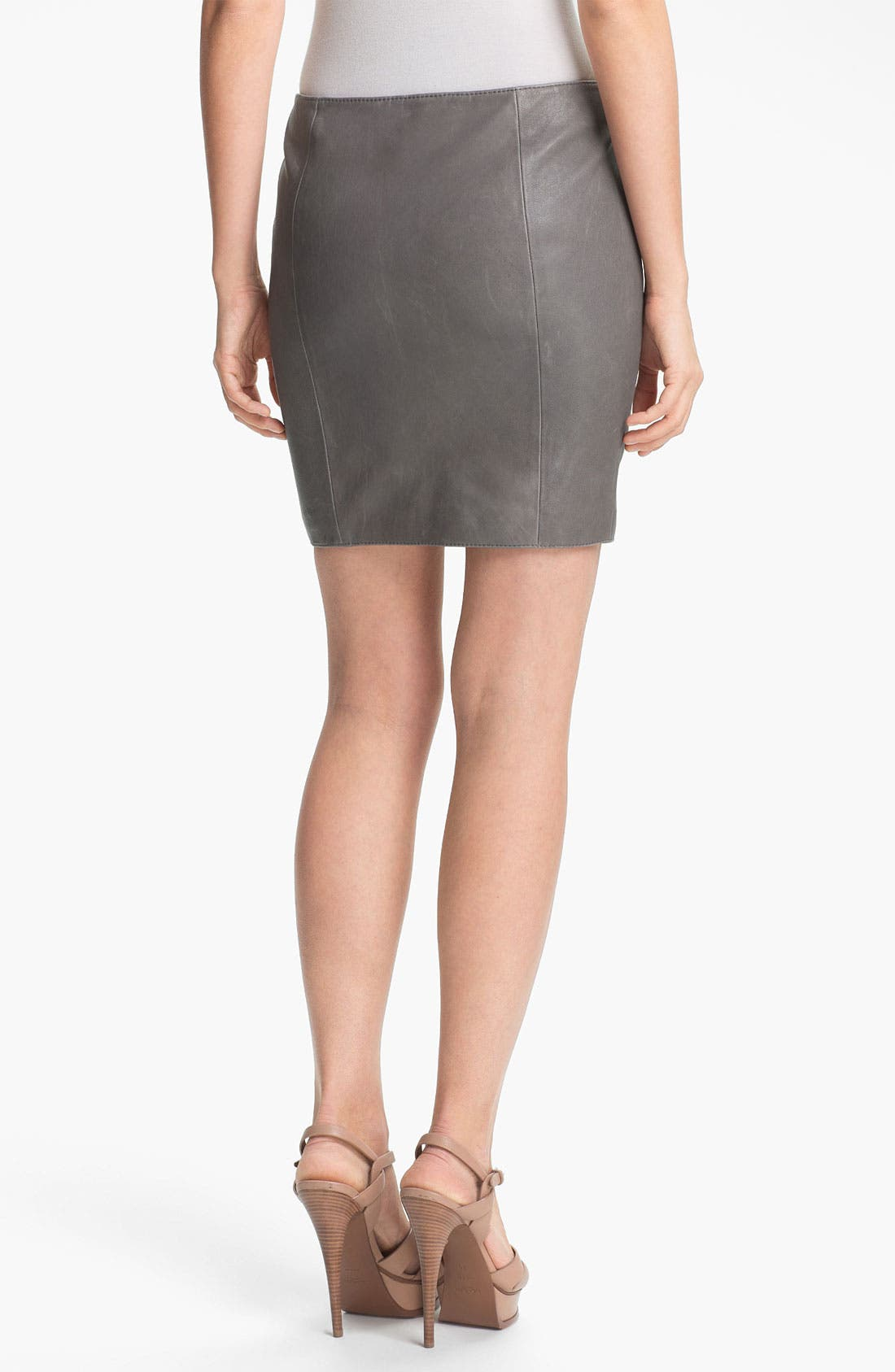 Alternate Image 3  - Haute Hippie Asymmetrical Zip Leather Miniskirt