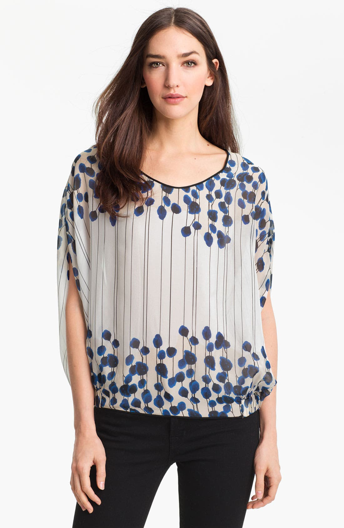 Alternate Image 1 Selected - Diane von Furstenberg 'Robyn' Print Silk Blouse