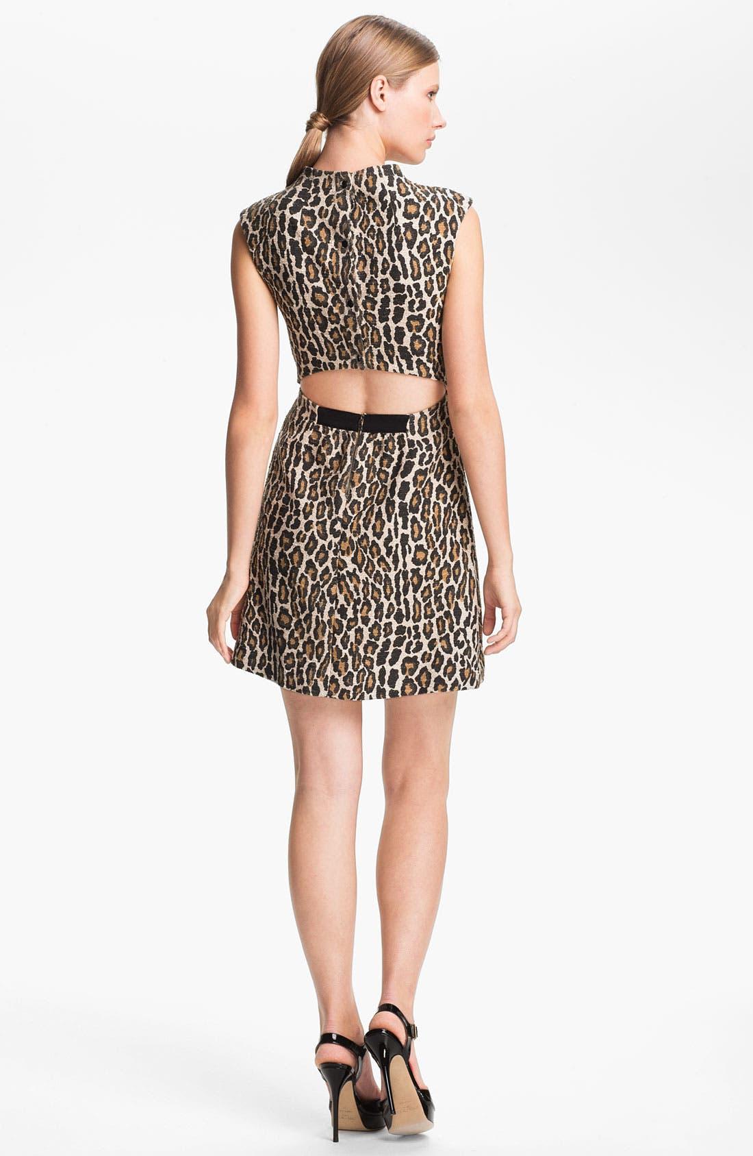 Alternate Image 2  - Alice + Olivia Leopard Print Dress