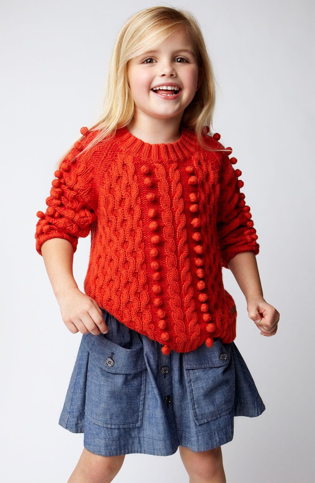 Alternate Image 2  - Burberry 'Silvie' Button Front Chambray Skirt (Little Girls & Big Girls)