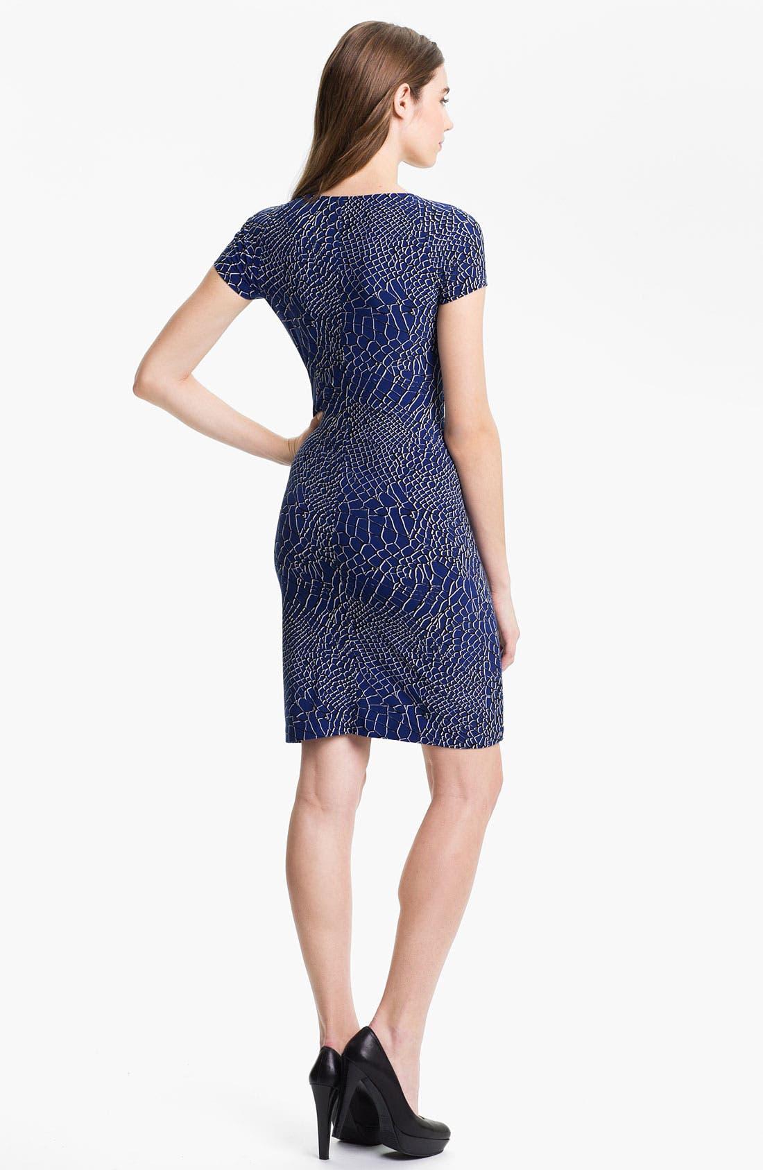 Alternate Image 2  - KAMALIKULTURE Print Sweetheart Sheath Dress