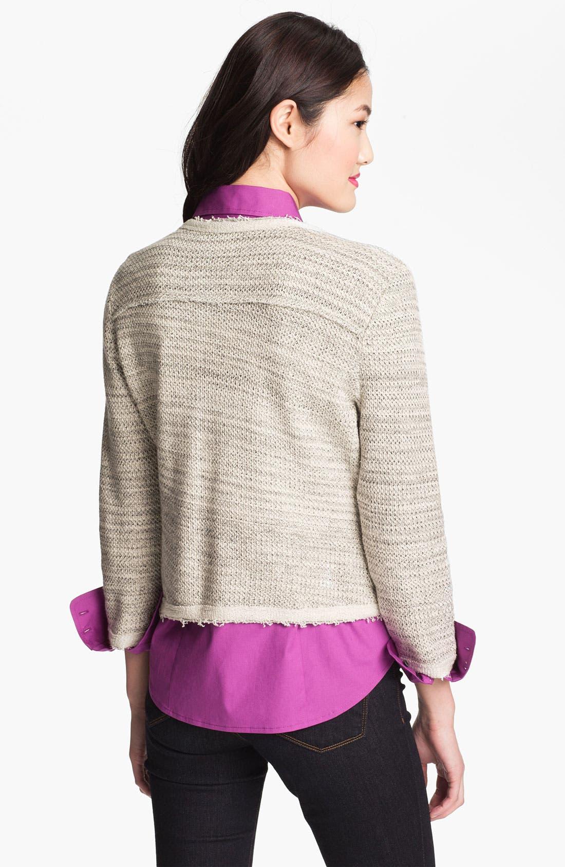 Alternate Image 2  - Halogen® Jacquard Knit Jacket