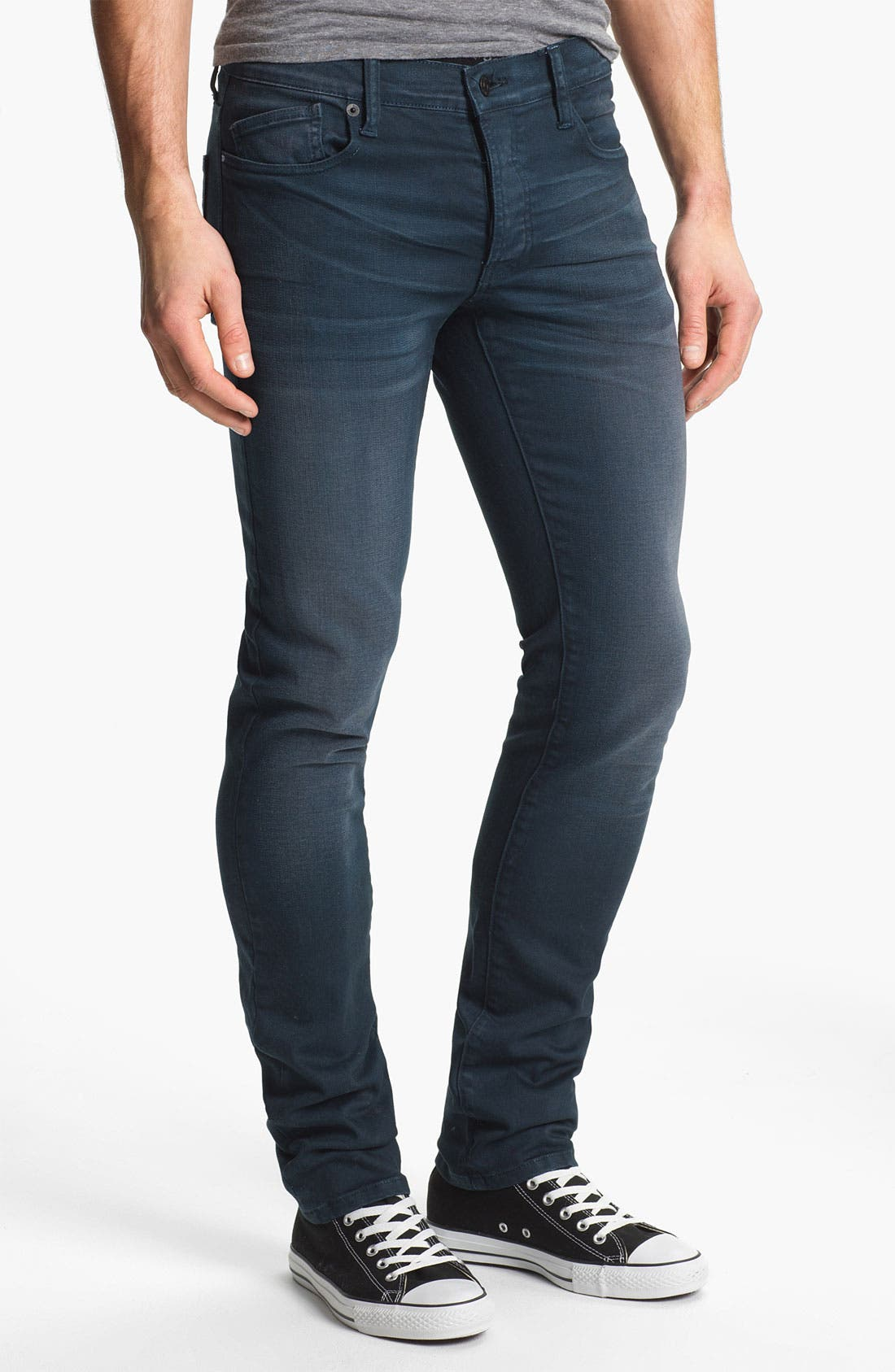 Alternate Image 2  - Kill City 'Wire' Slim Skinny Leg Jeans (Navy)