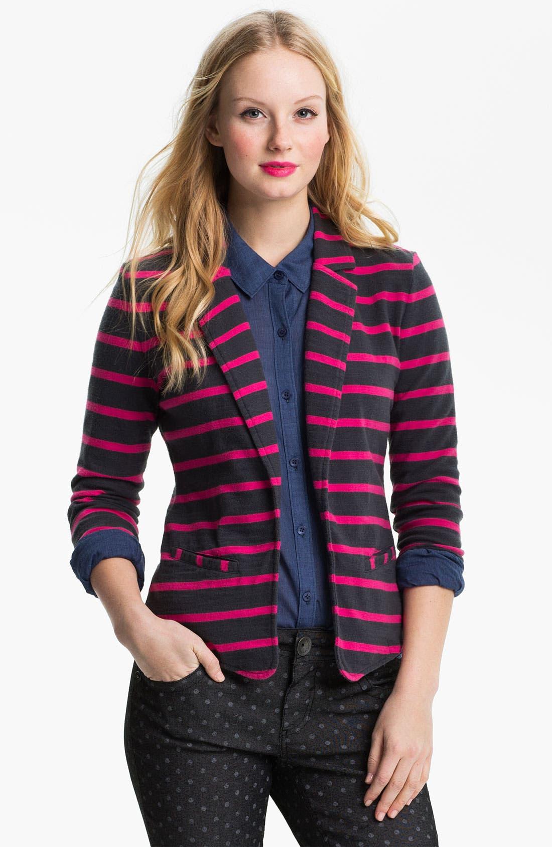 Alternate Image 1 Selected - Caslon® Roll Sleeve Jacket (Petite)