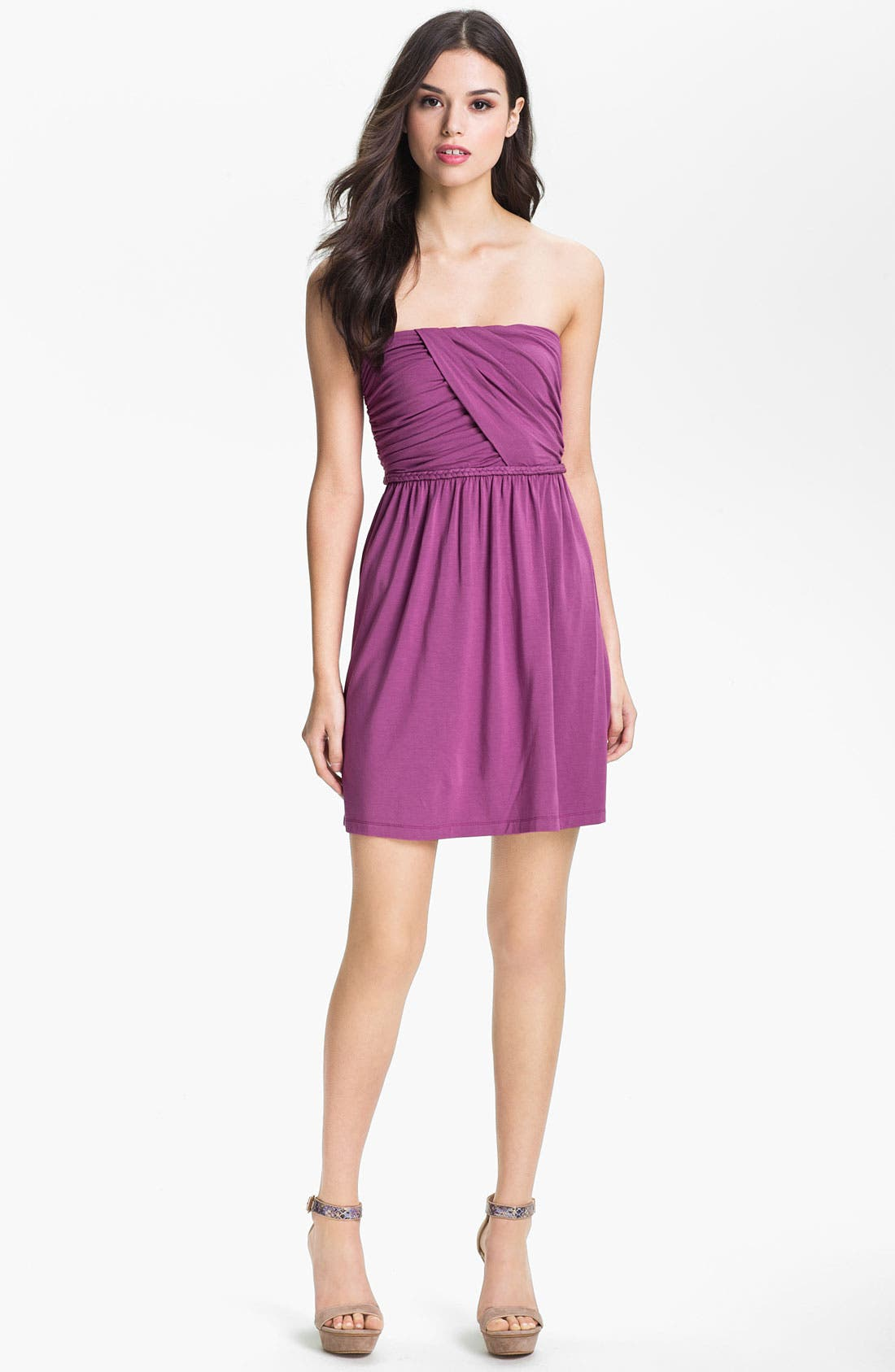 Main Image - Tart 'Faith' Strapless Ruched Dress