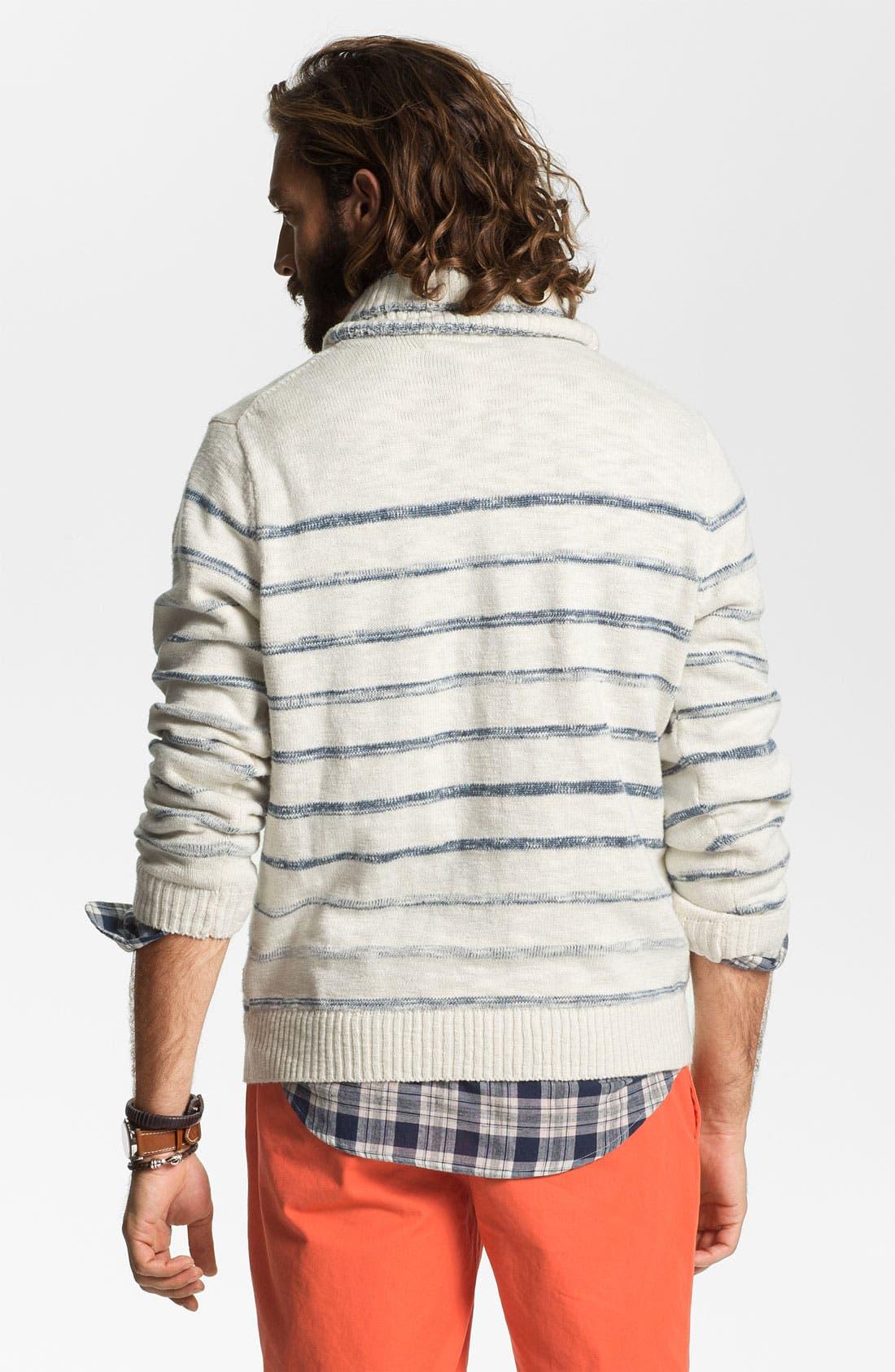 Alternate Image 2  - Hickey Freeman Shawl Collar Sweater