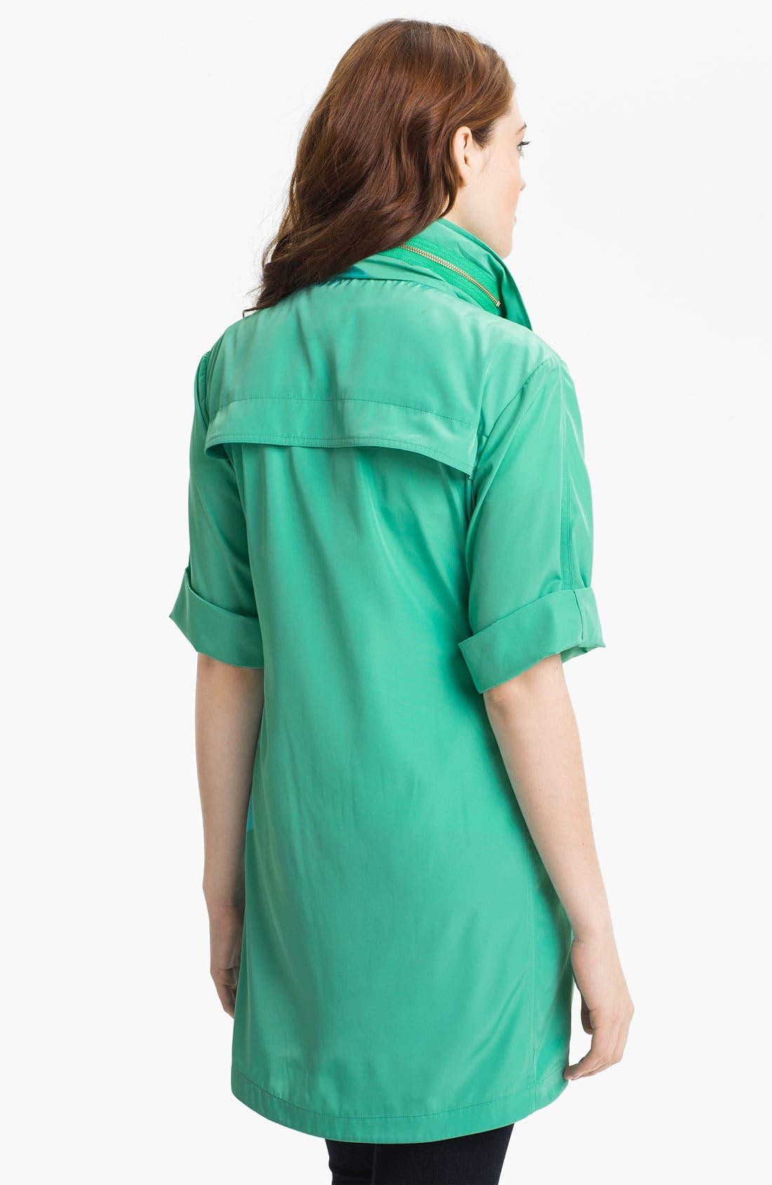 Alternate Image 2  - Ali Ro Short Sleeve Anorak (Regular & Petite)