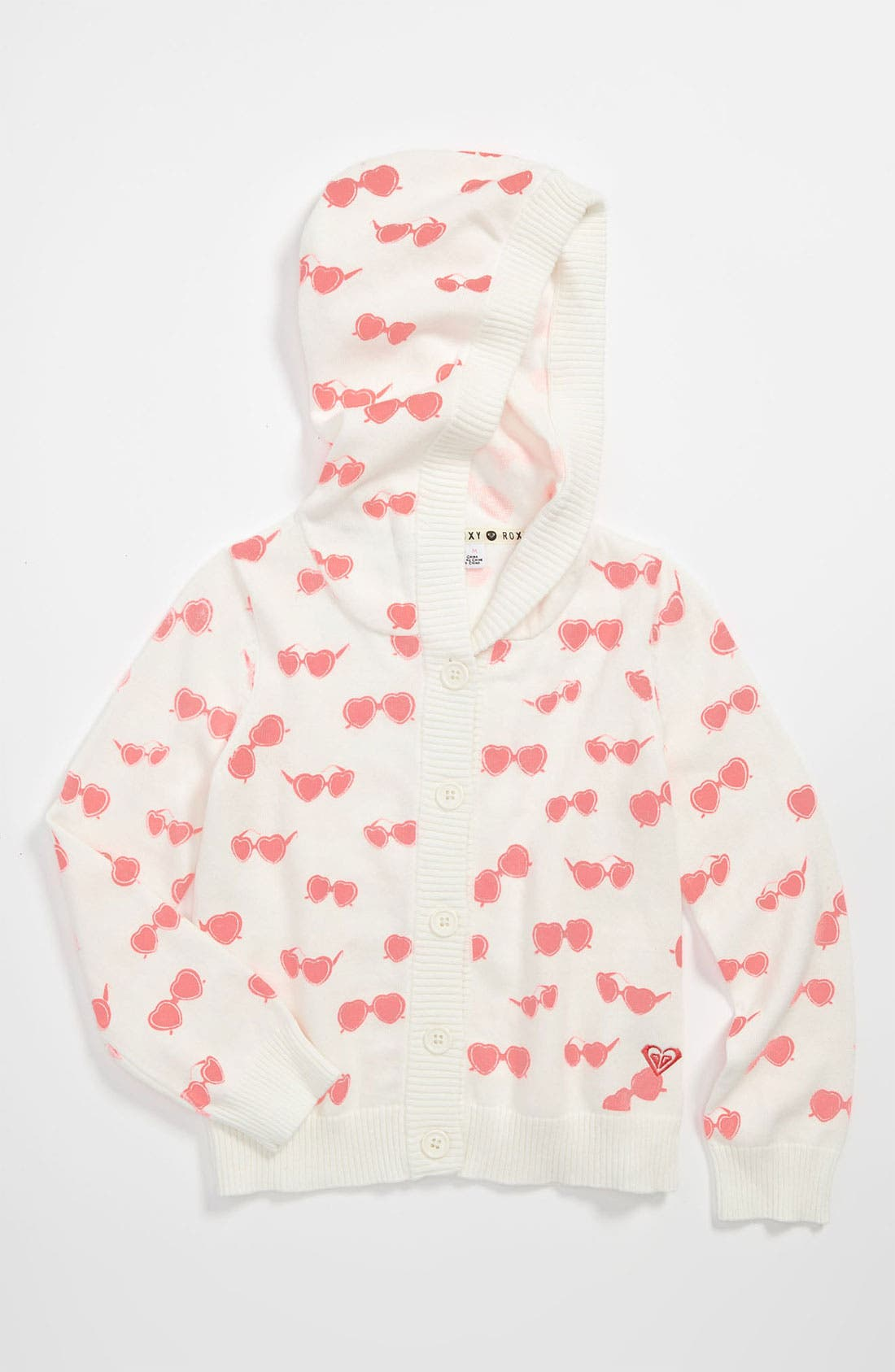 Main Image - Roxy 'Dilly Dally' Hooded Sweater (Little Girls)